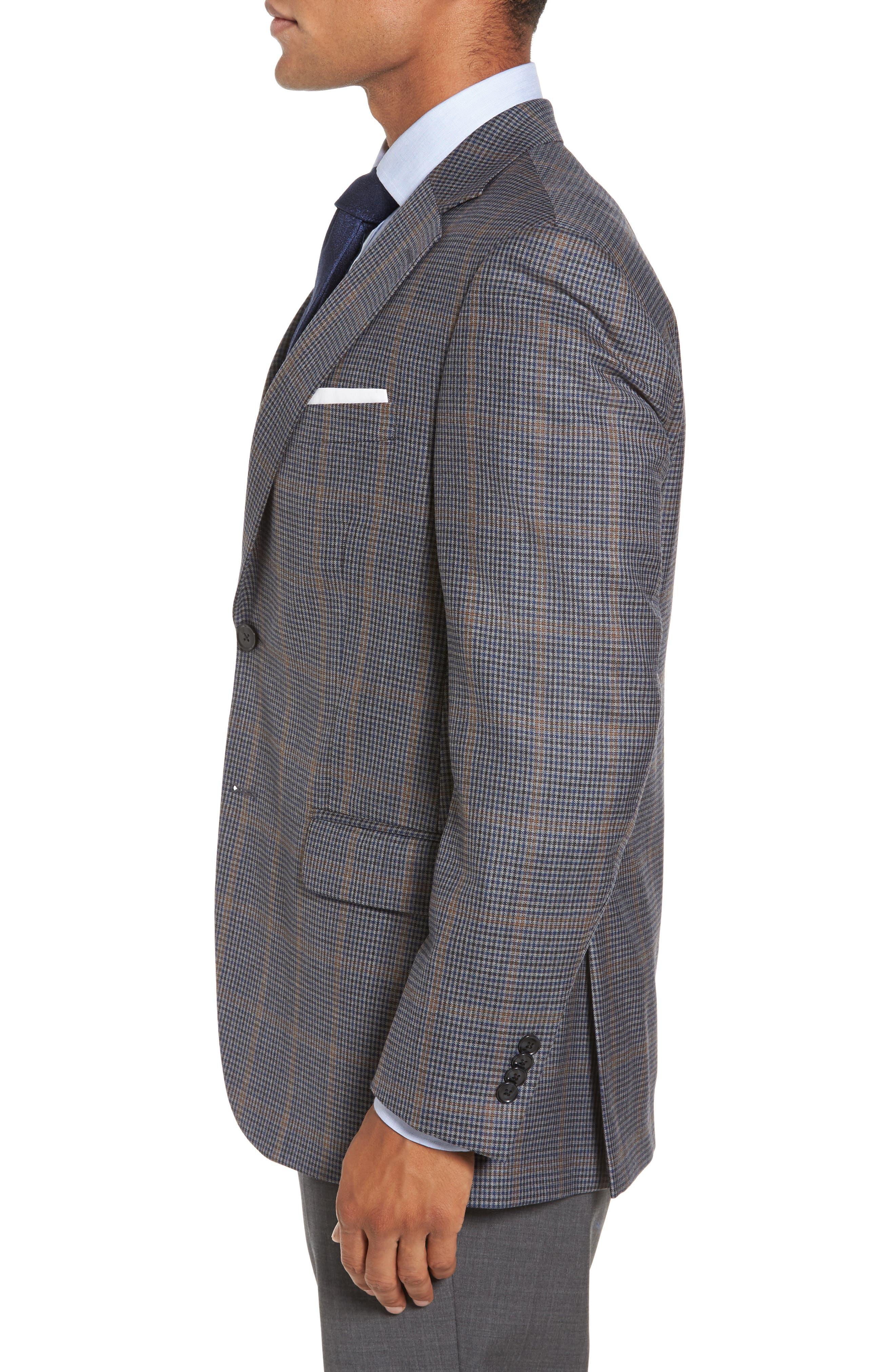 Alternate Image 3  - Peter Millar Classic Fit Plaid Wool Sport Coat