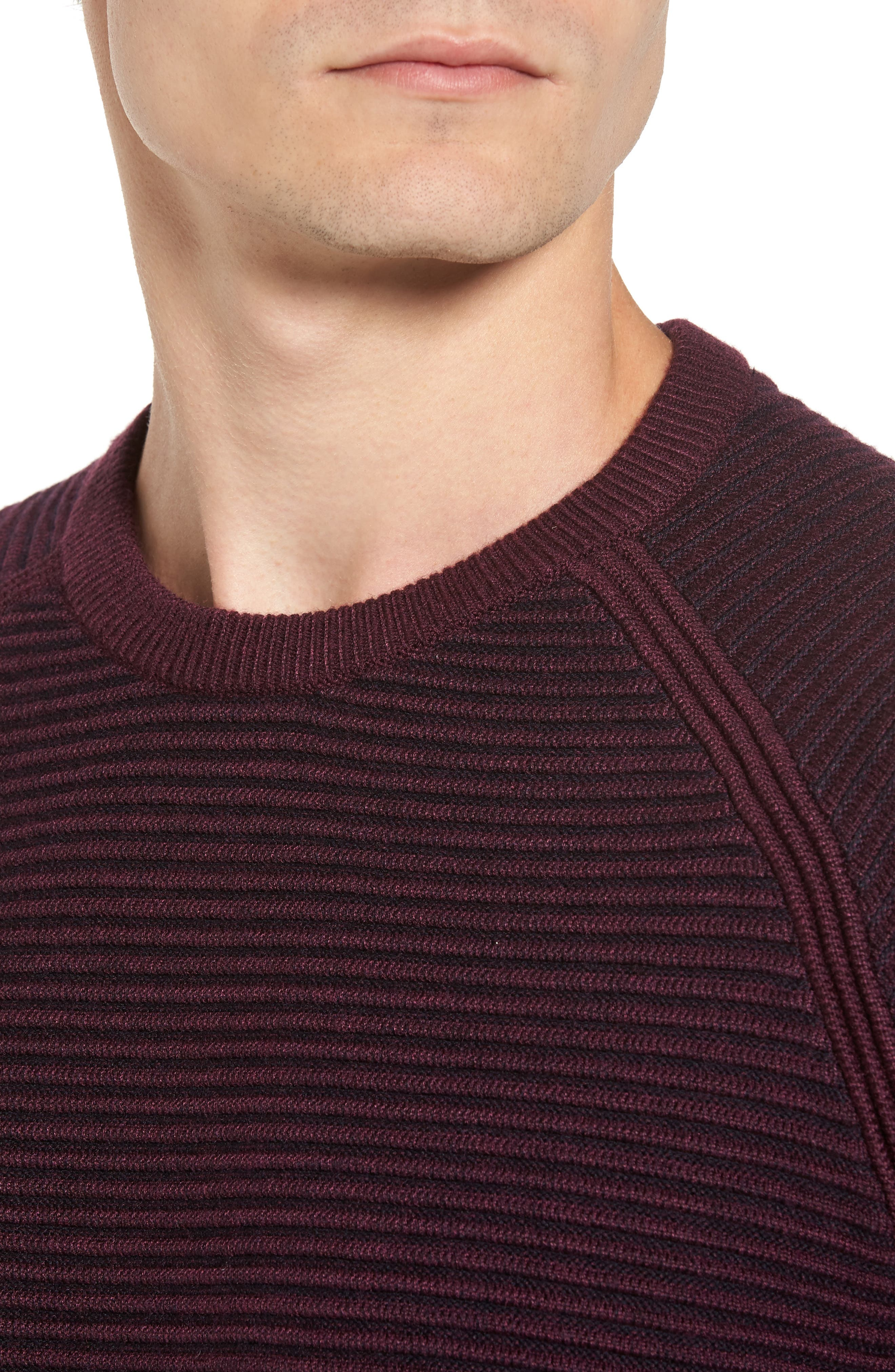 Cashoo Slim Fit Ribbed Sweatshirt,                             Alternate thumbnail 4, color,                             Purple