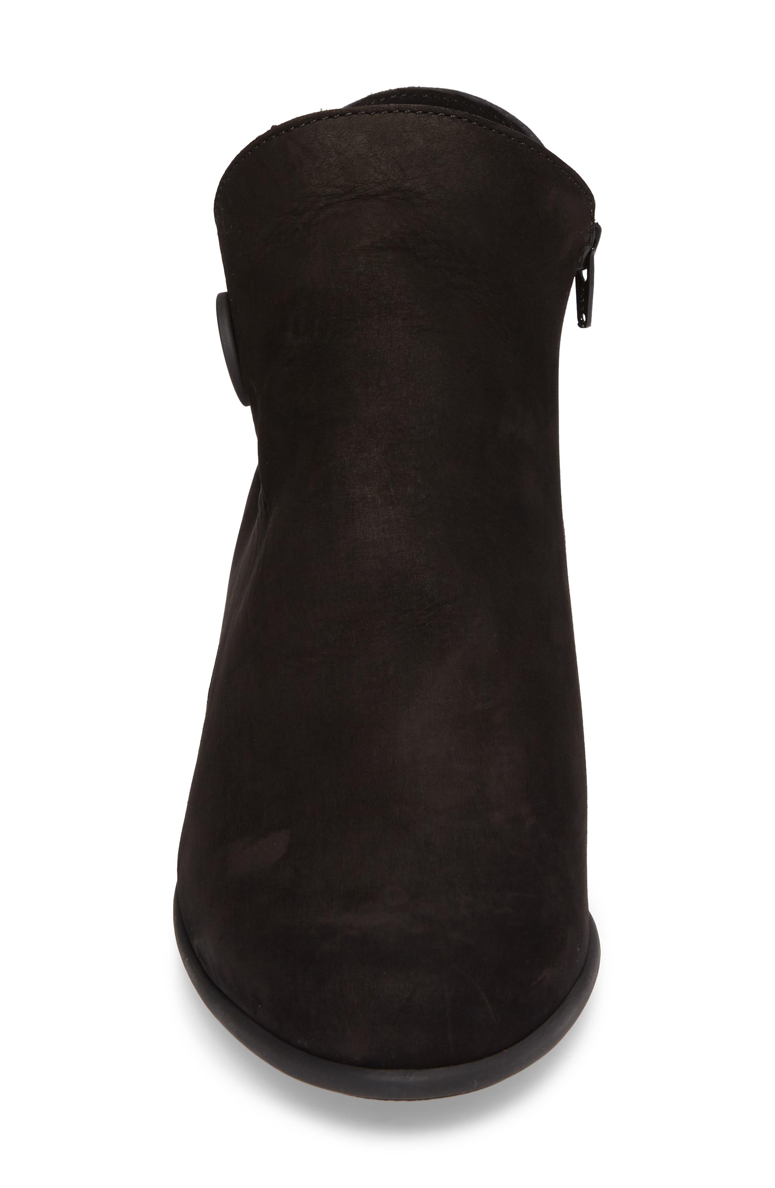 Mussem Water Resistant Bootie,                             Alternate thumbnail 4, color,                             Noir Nubuck Leather