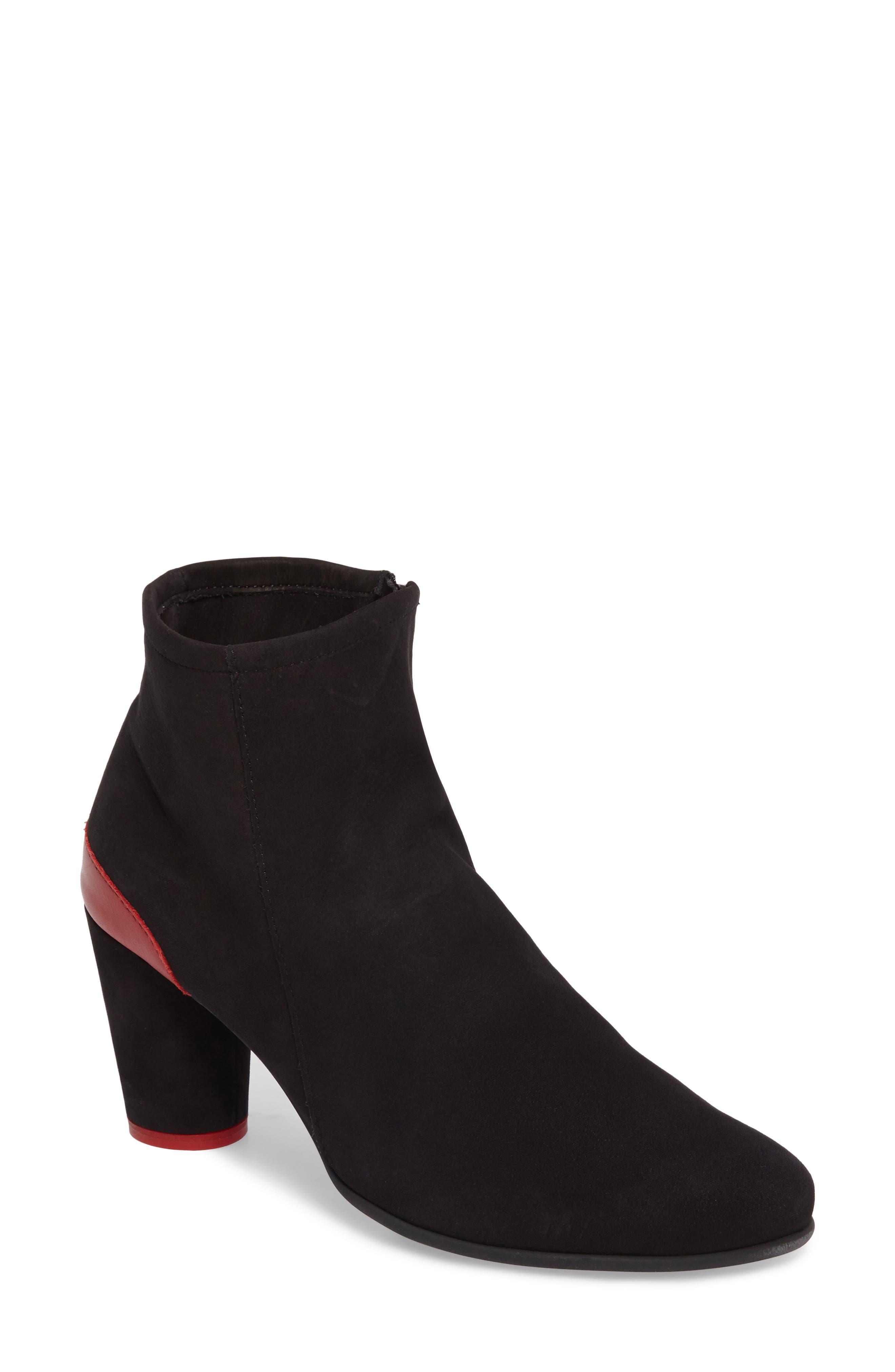 Klodea Bootie,                         Main,                         color, Noir/ Passion Nubuck Leather