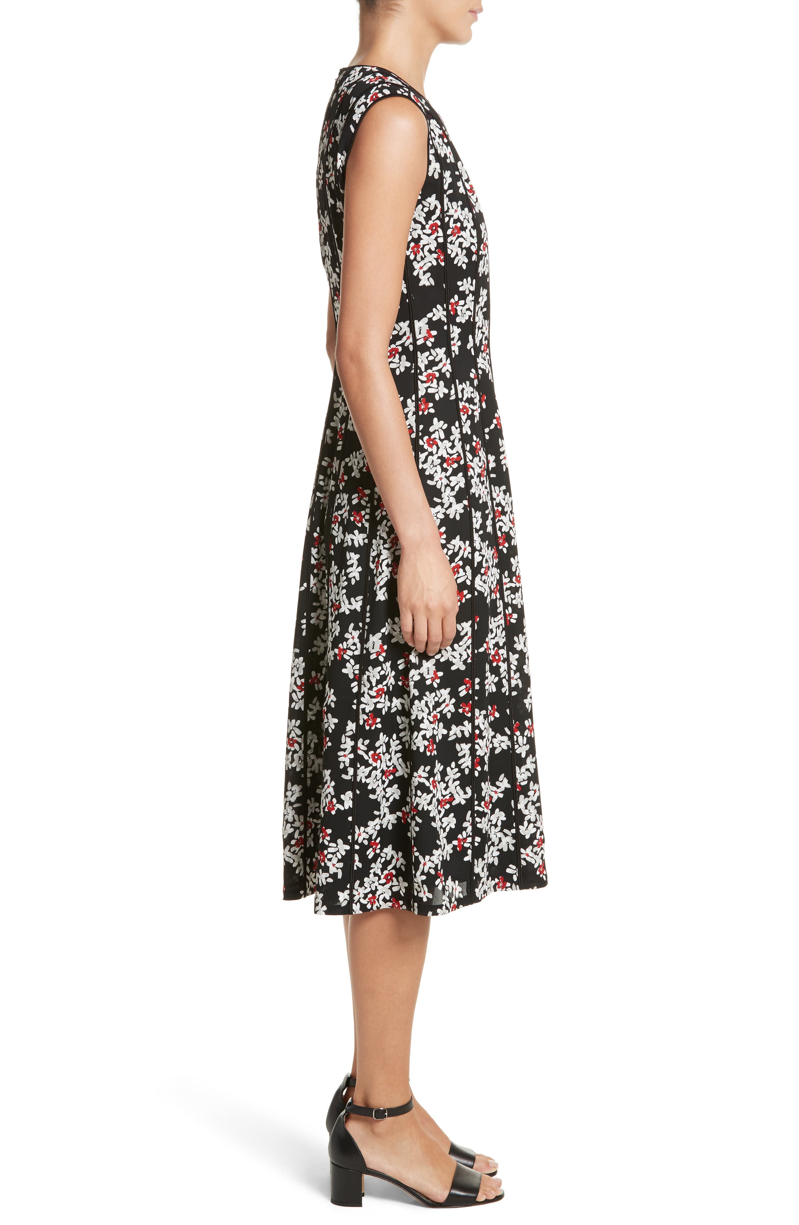 Alternate Image 3  - Lafayette 148 New York Marley Fresh Floral Drape Cloth Dress
