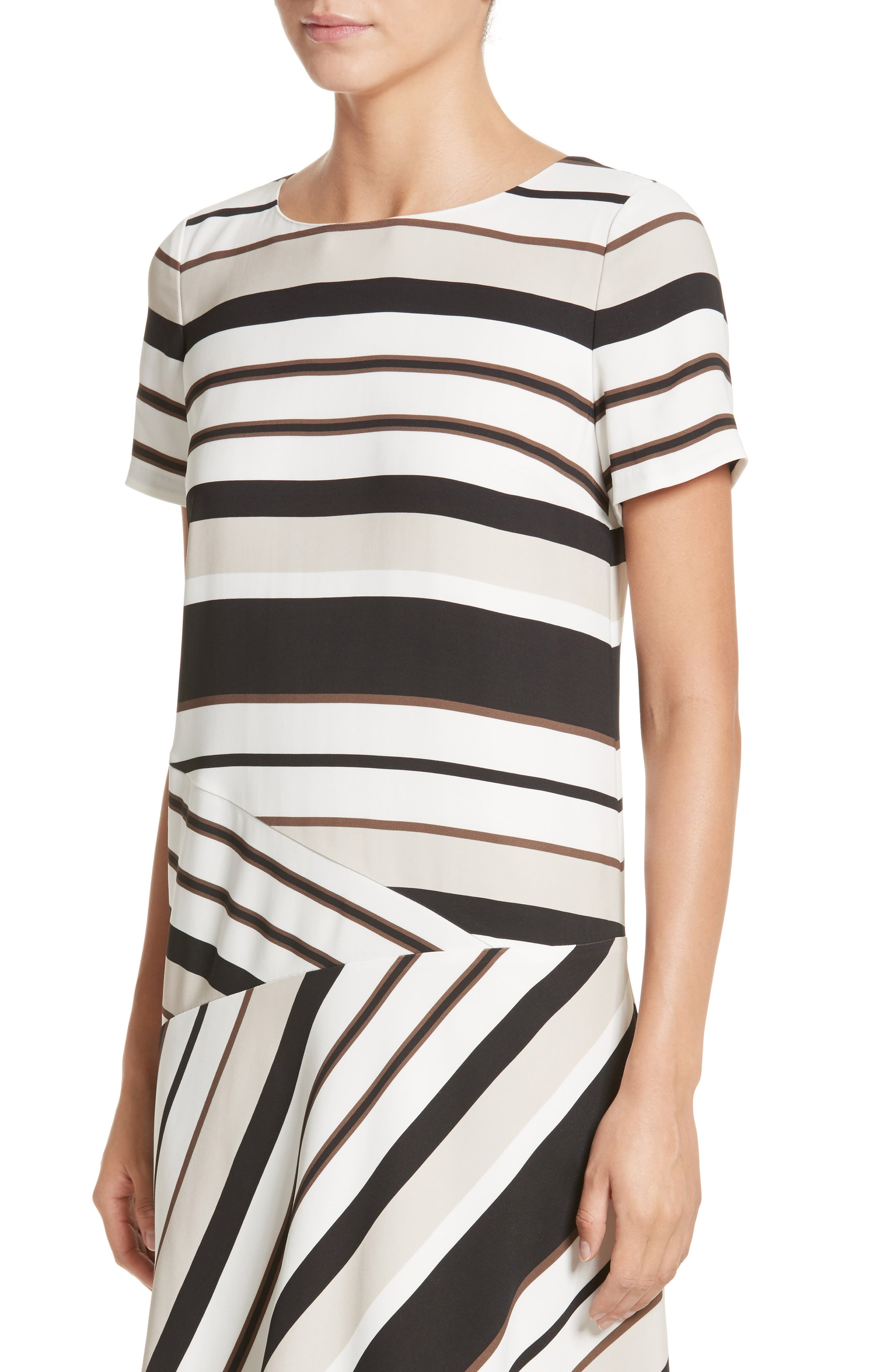 Alternate Image 4  - Lafayette 148 New York Greta Stripe Drop Waist Dress