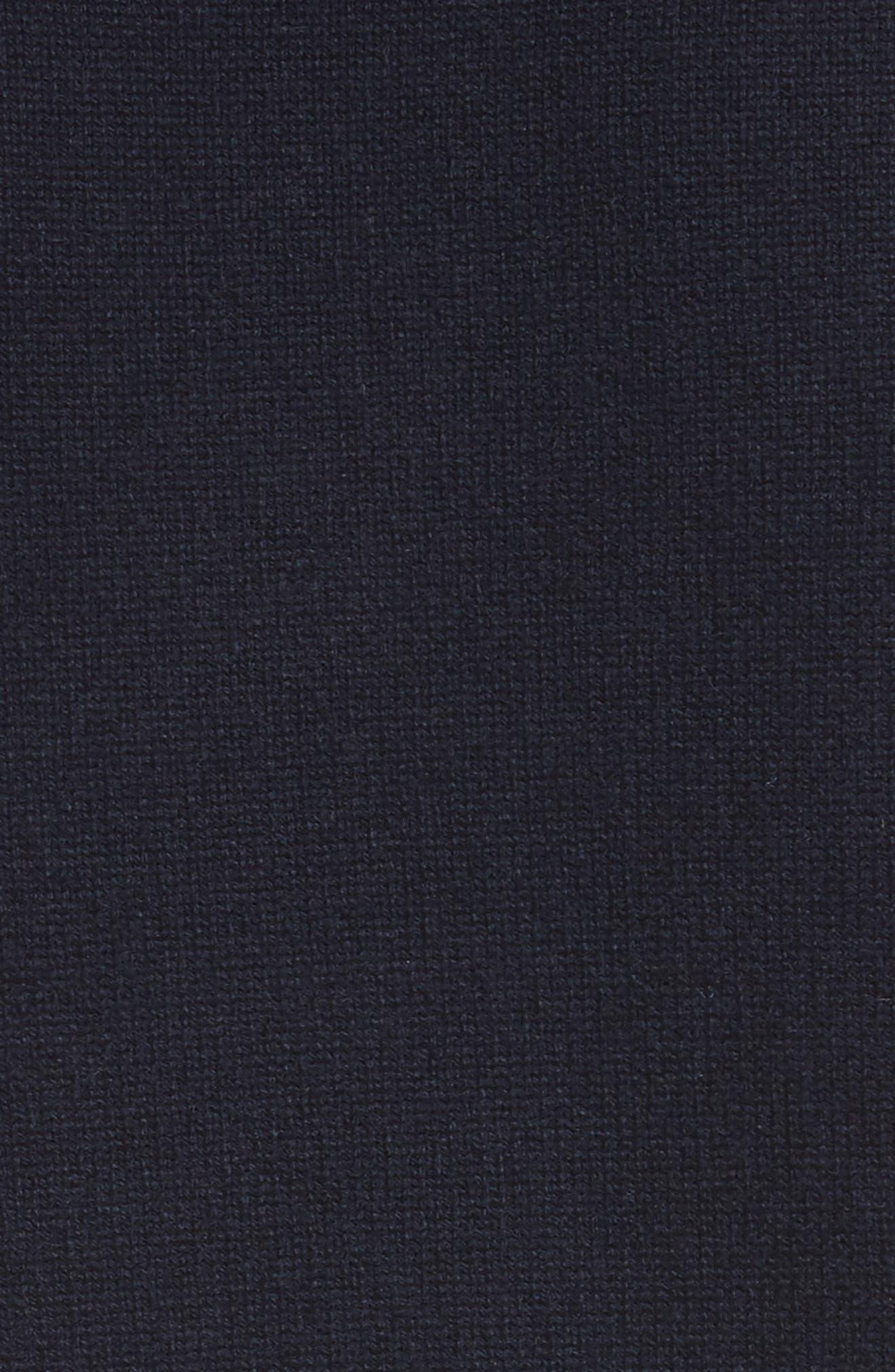 Logo Cashmere Sweater,                             Alternate thumbnail 5, color,                             Navy