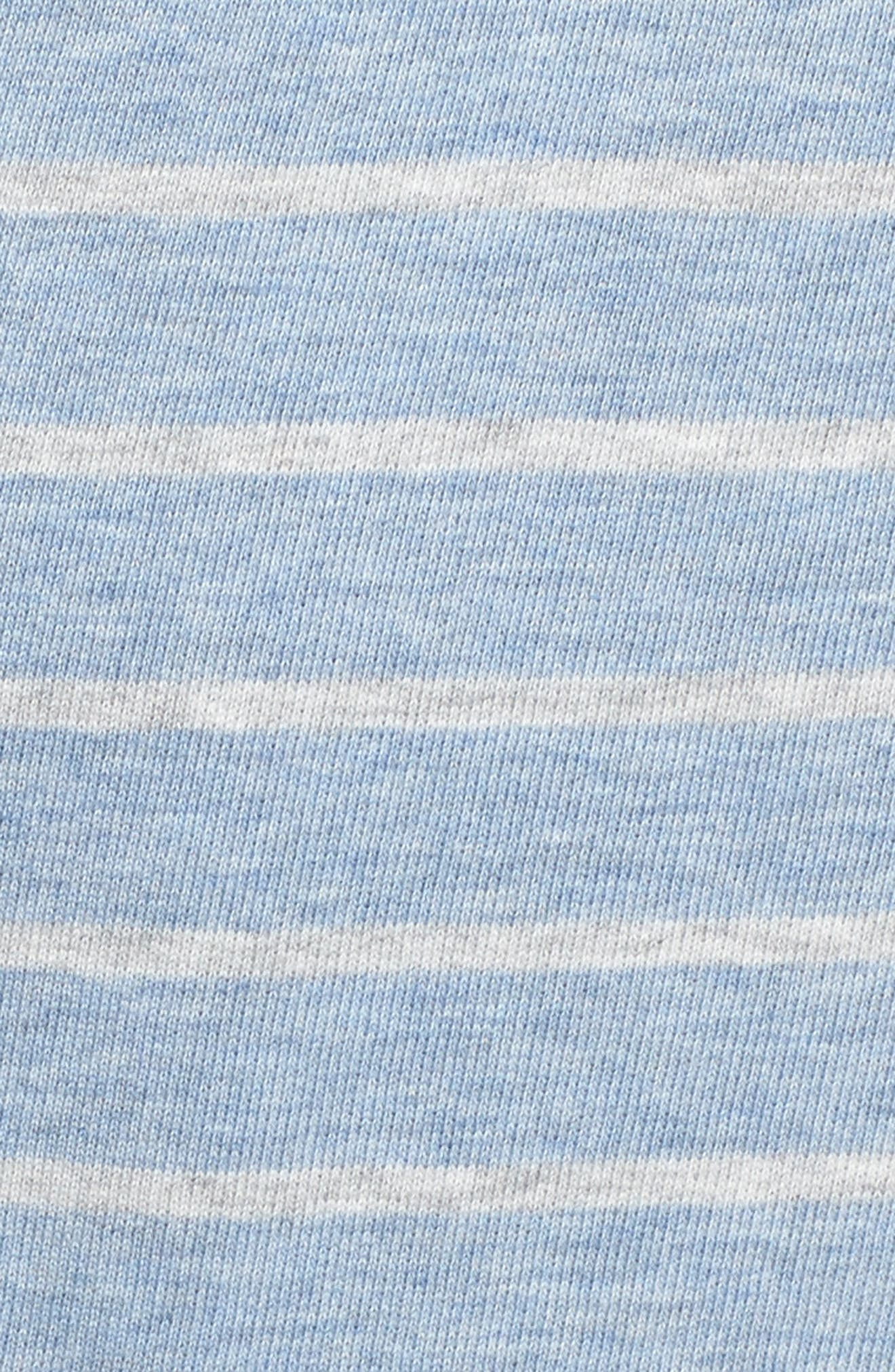 Stripe Washed Cotton Pullover Hoodie,                             Alternate thumbnail 5, color,                             Summer Evening