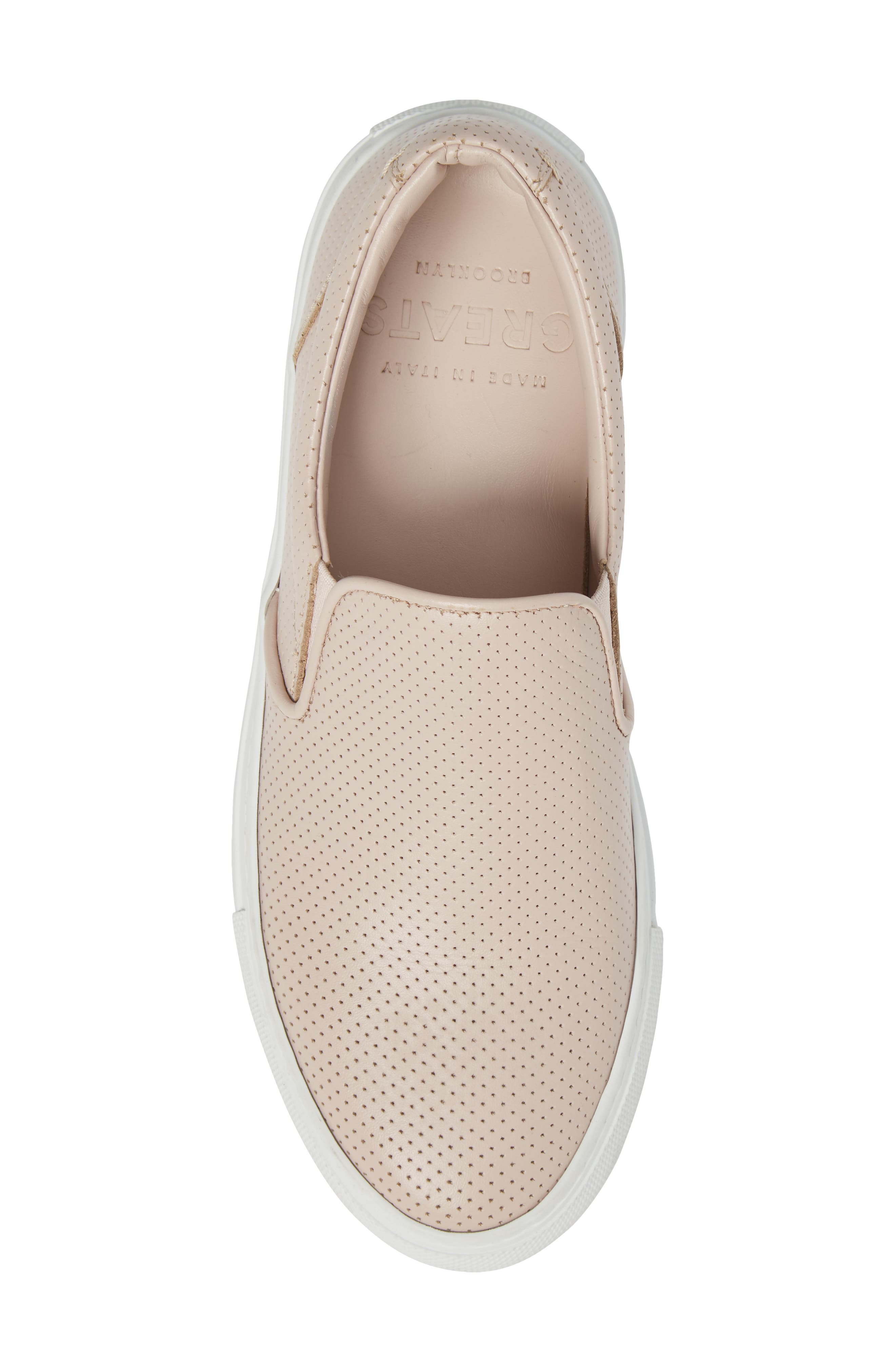 Wooster Slip-On Sneaker,                             Alternate thumbnail 5, color,                             Blush Perforated