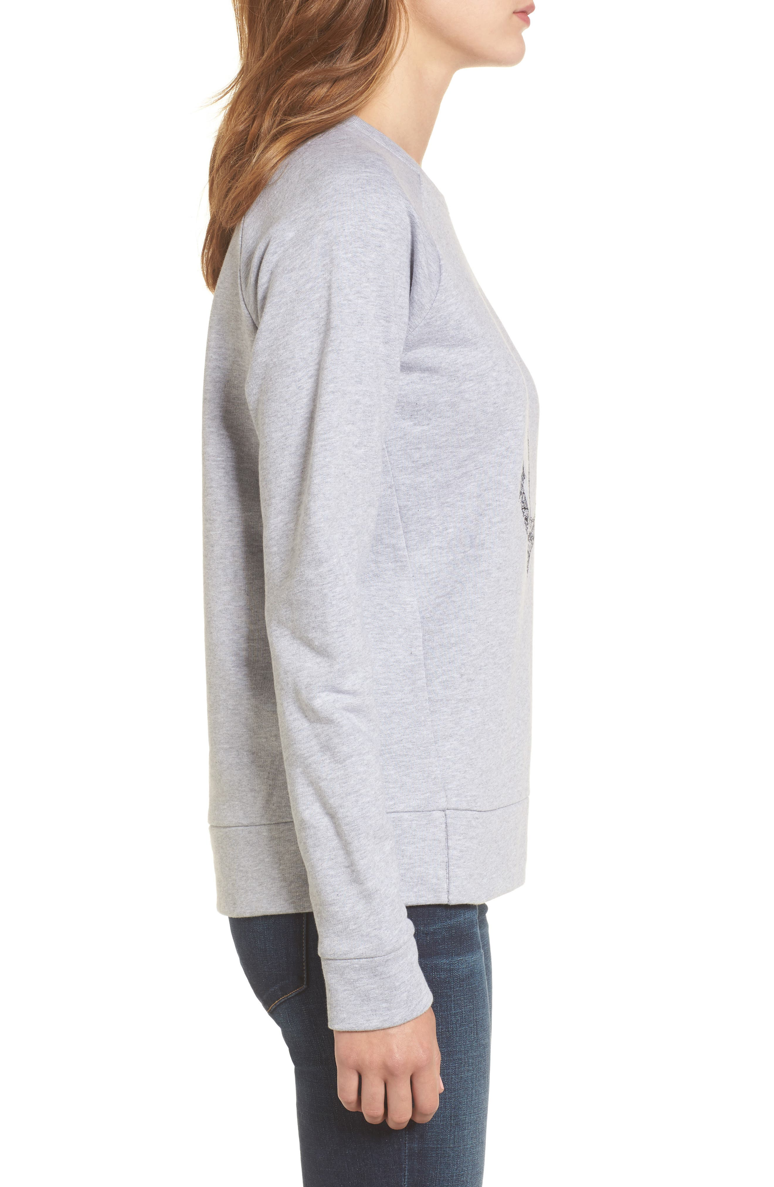 Wester Sweatshirt,                             Alternate thumbnail 3, color,                             Light Grey