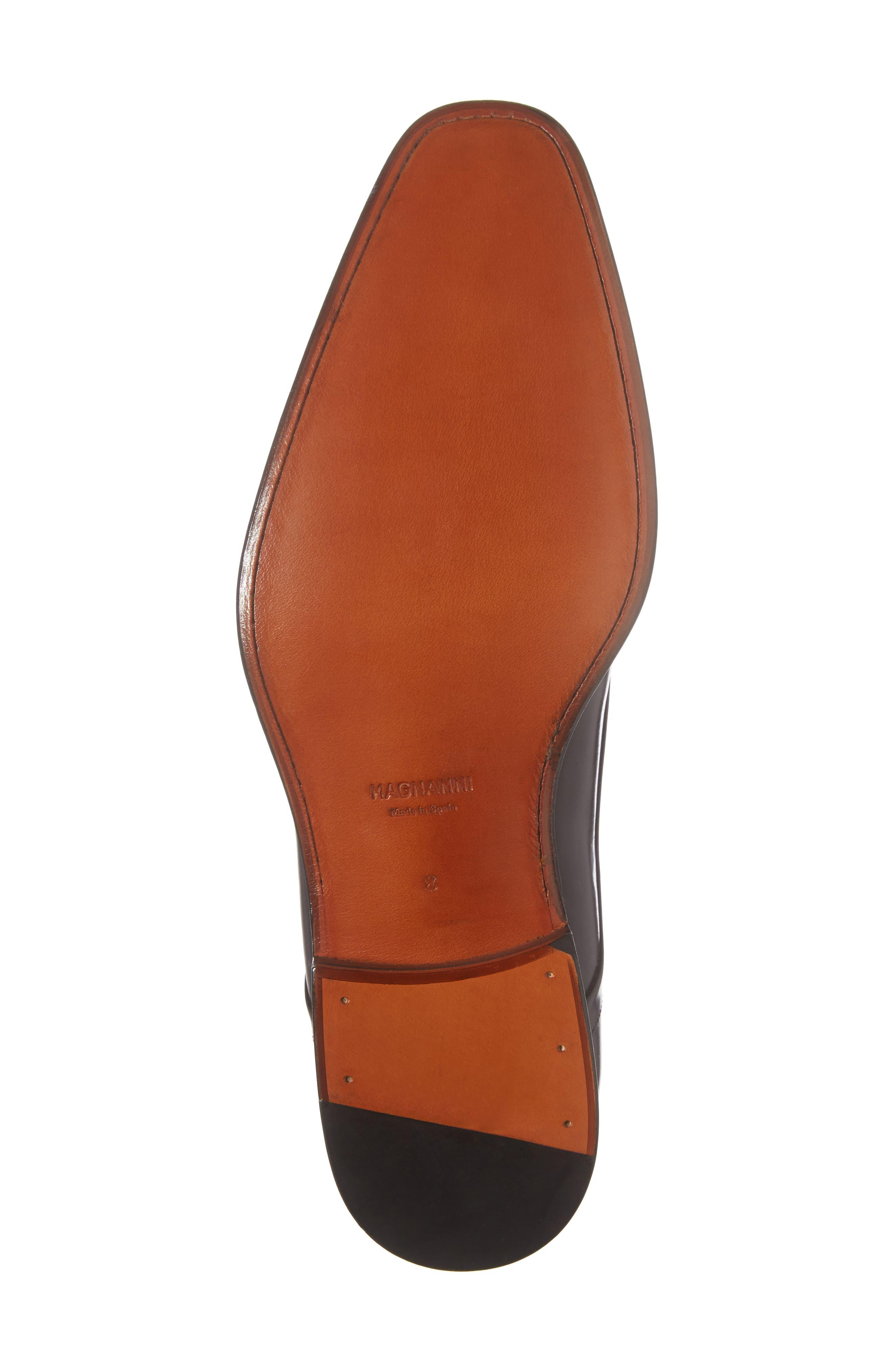 Mario Plain Toe Derby,                             Alternate thumbnail 6, color,                             Black Leather