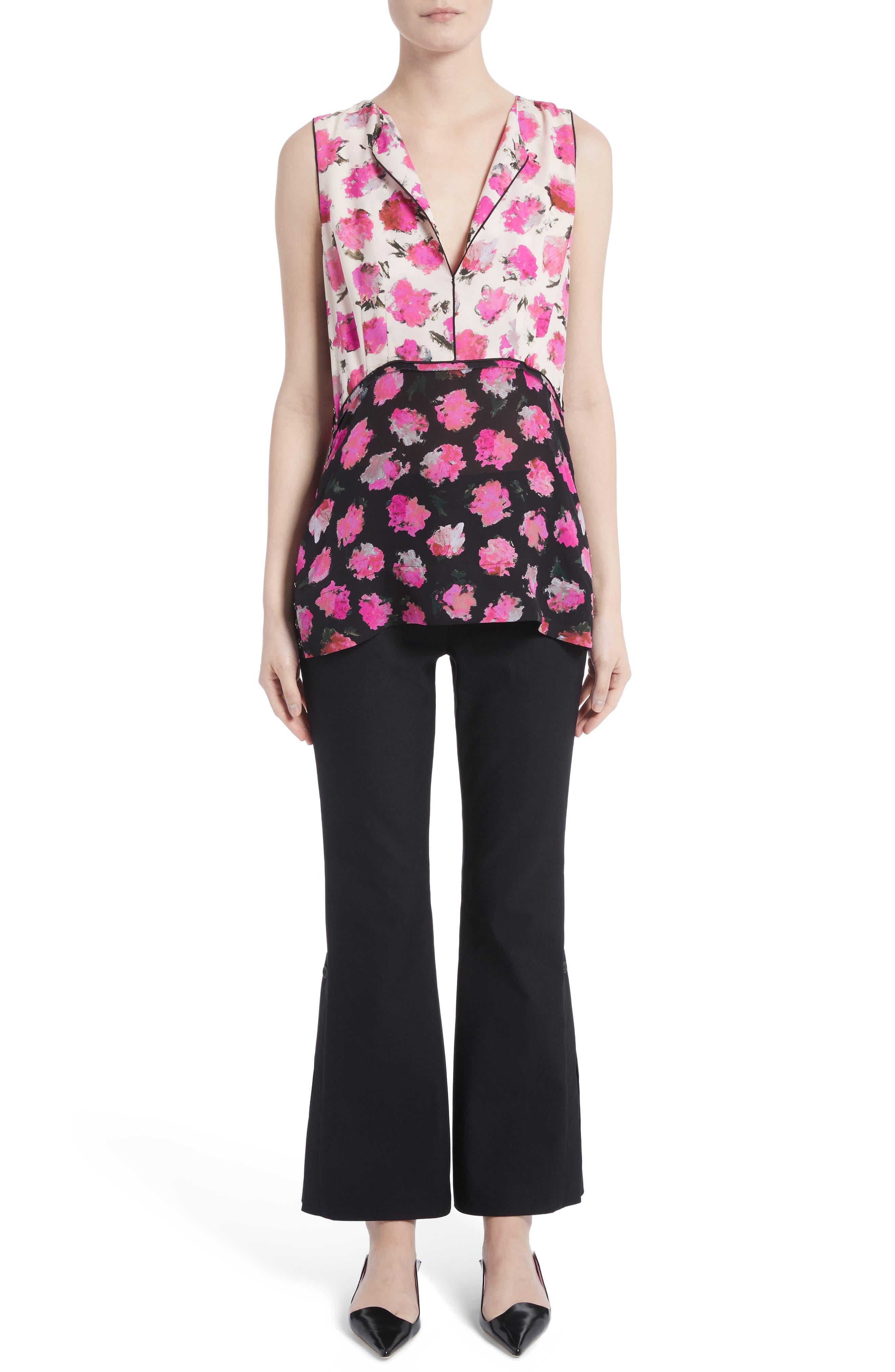 Alternate Image 7  - Proenza Schouler Stretch Cotton Blend Flare Pants