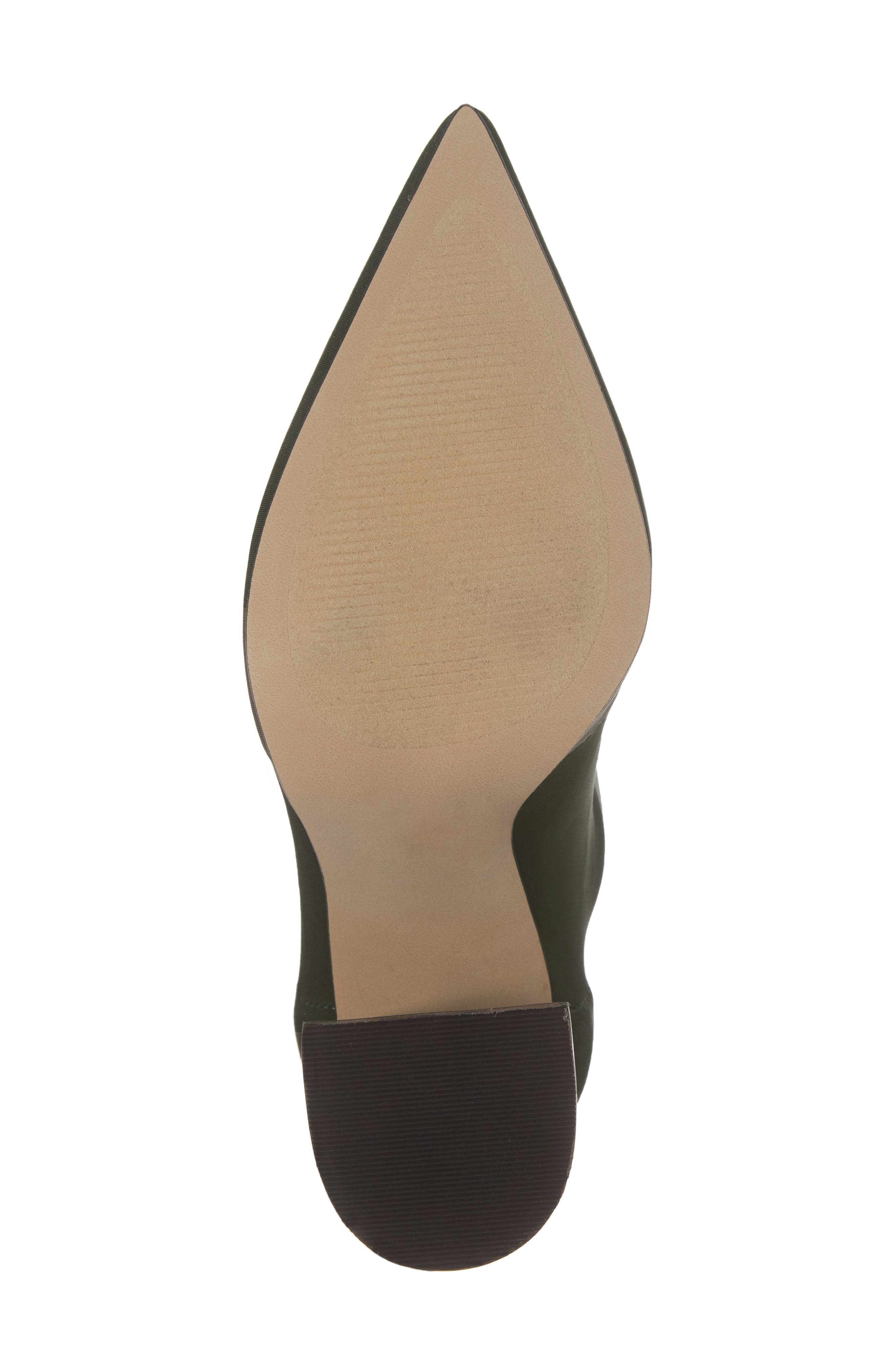 Lombard Pointy Toe Sock Bootie,                             Alternate thumbnail 7, color,                             Olive