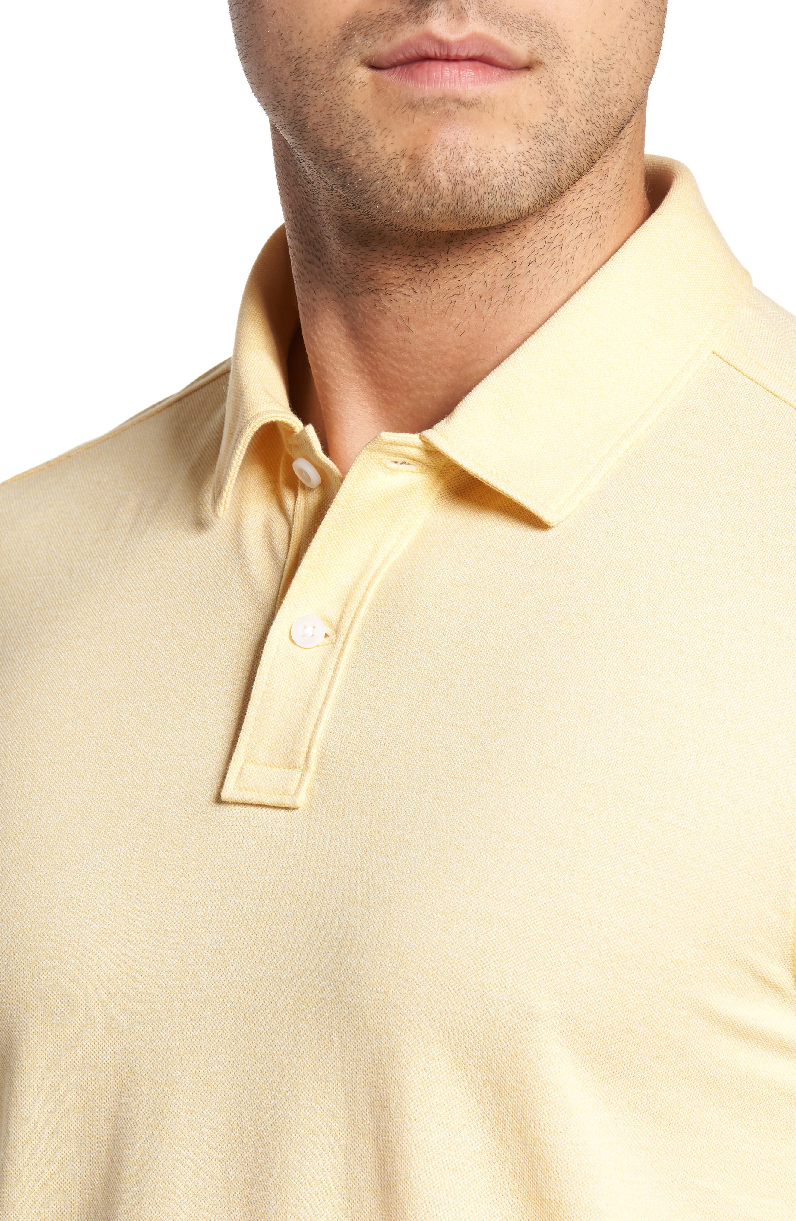 Regular Fit Polo,                             Alternate thumbnail 4, color,                             Yellow Silk