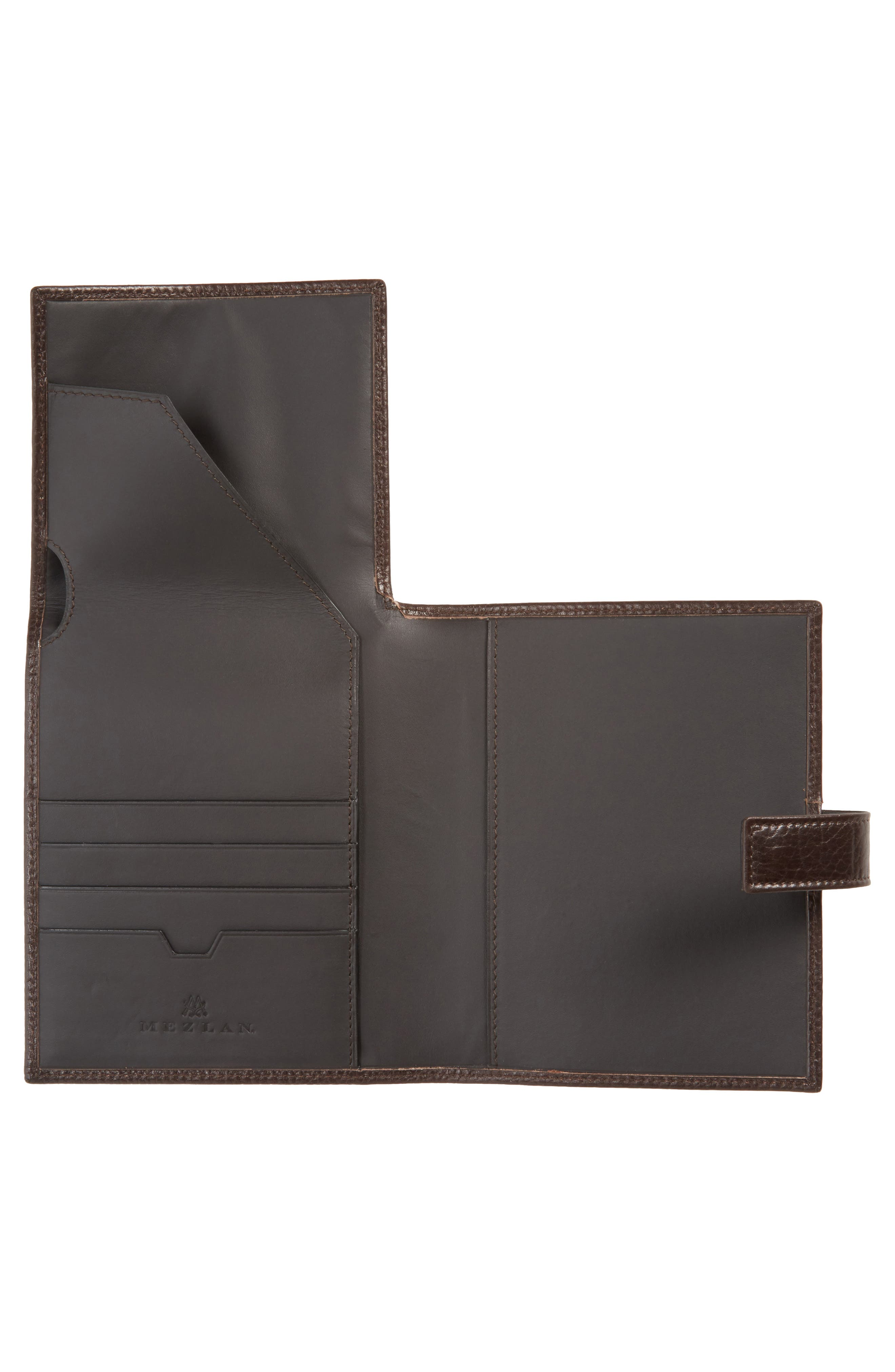 Perseo Leather Travel Wallet,                             Alternate thumbnail 2, color,                             Brown