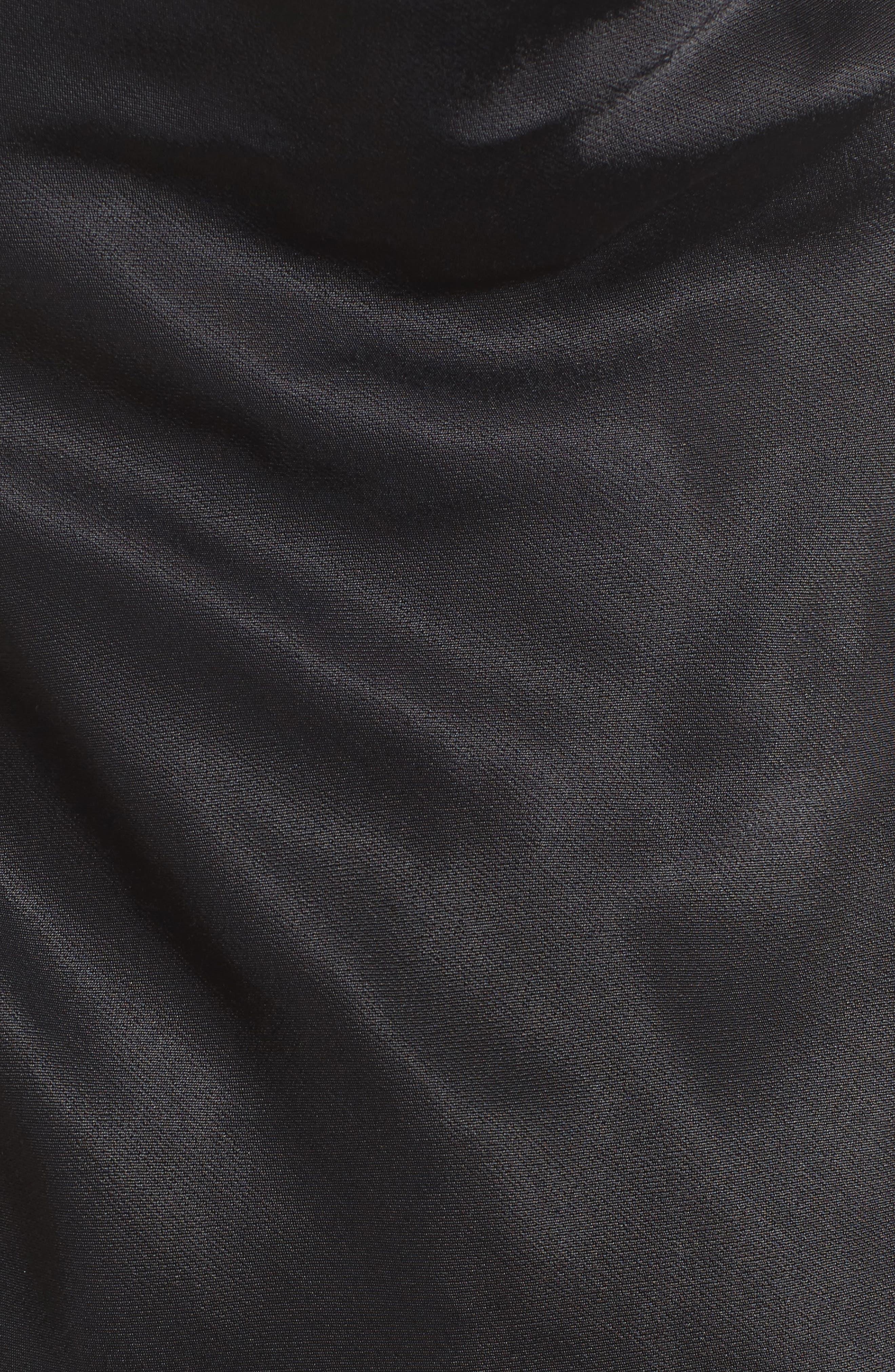 Iggy Chain Cowl Neck Tank,                             Alternate thumbnail 5, color,                             Black
