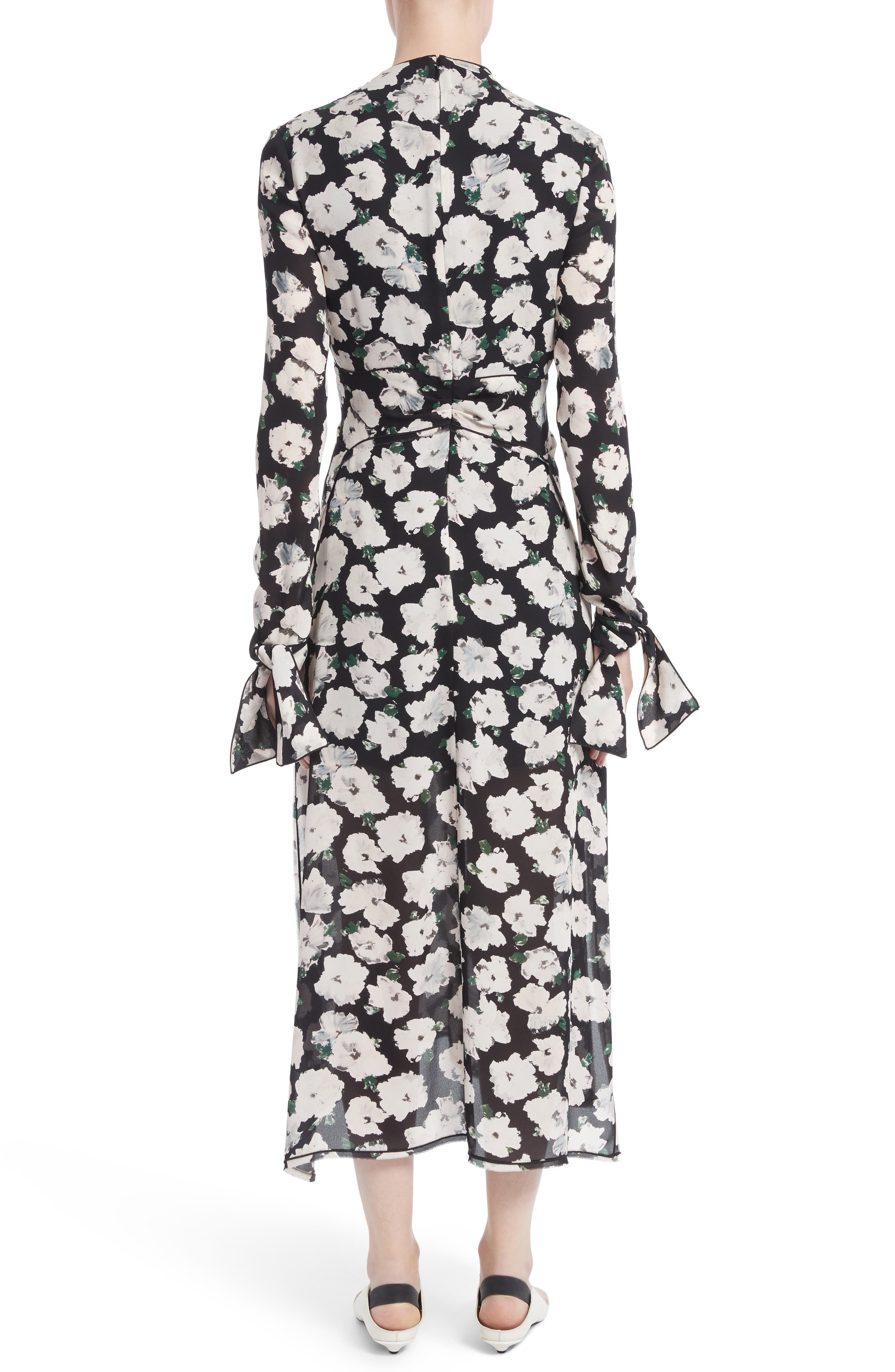 Alternate Image 3  - Proenza Schouler Print Silk Midi Dress