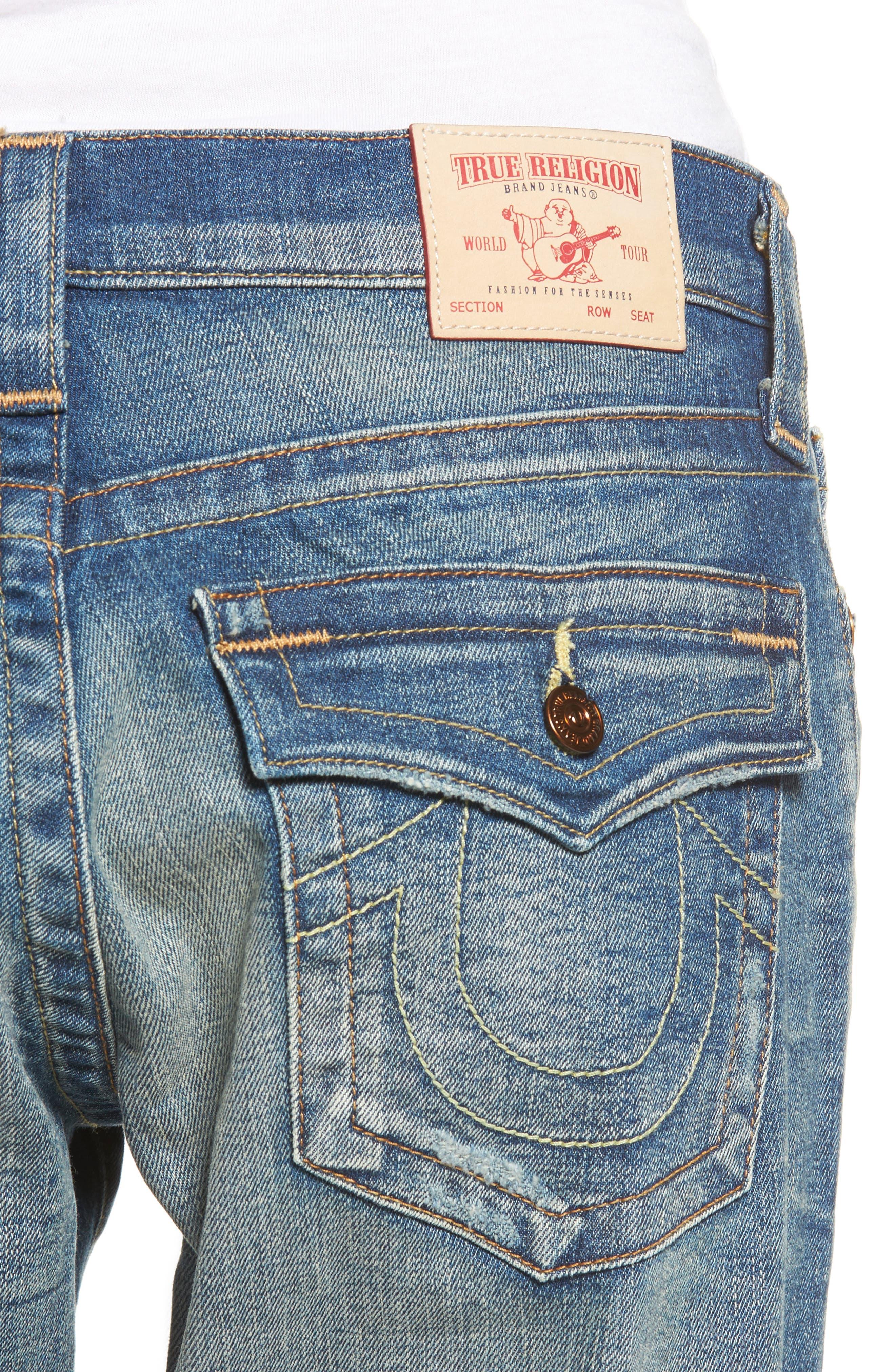Cameron Slim Boyfriend Jeans,                             Alternate thumbnail 6, color,                             Indigo Legacy