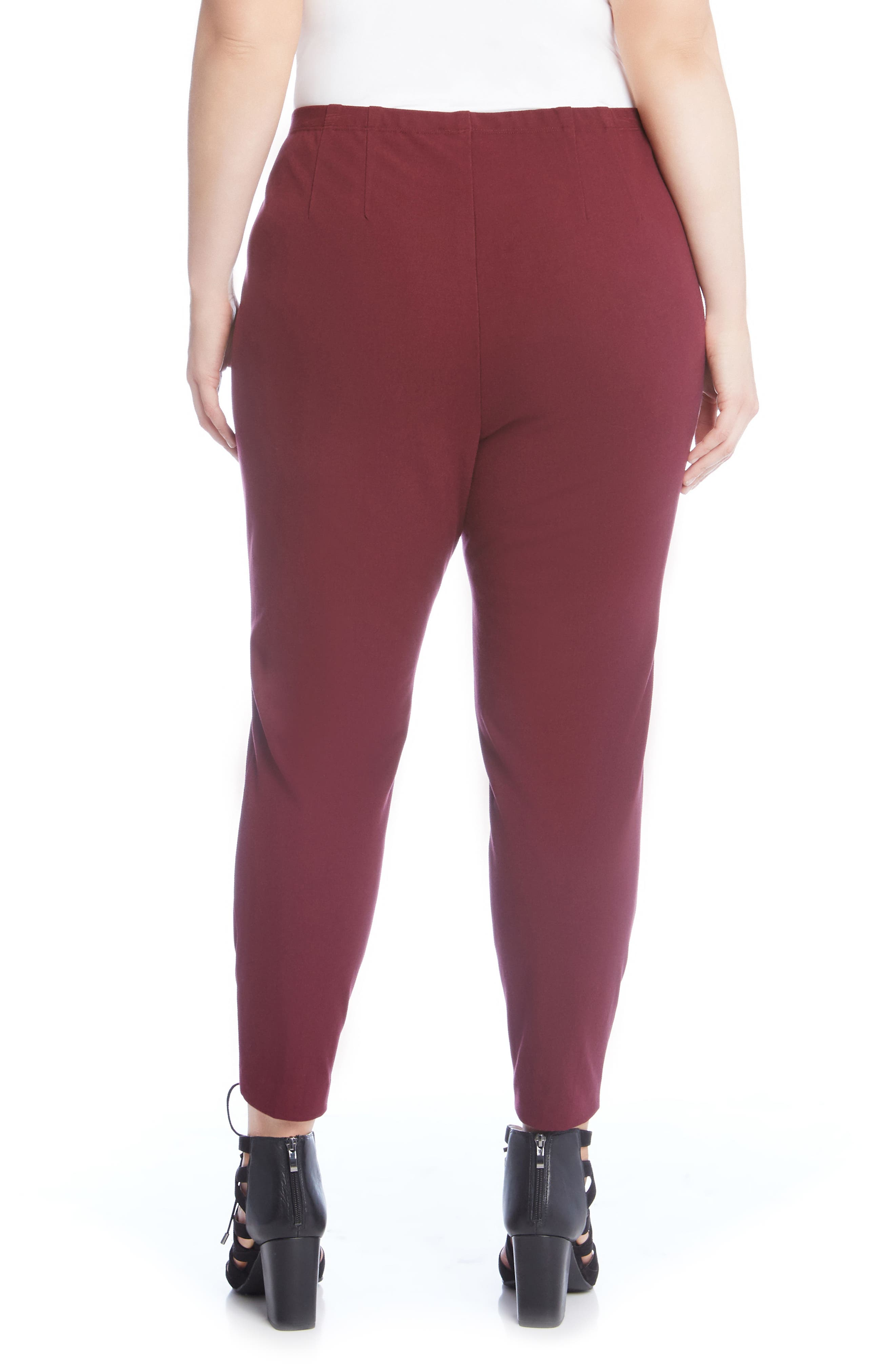 Piper High-Waist Pants,                             Alternate thumbnail 2, color,                             Burgundy