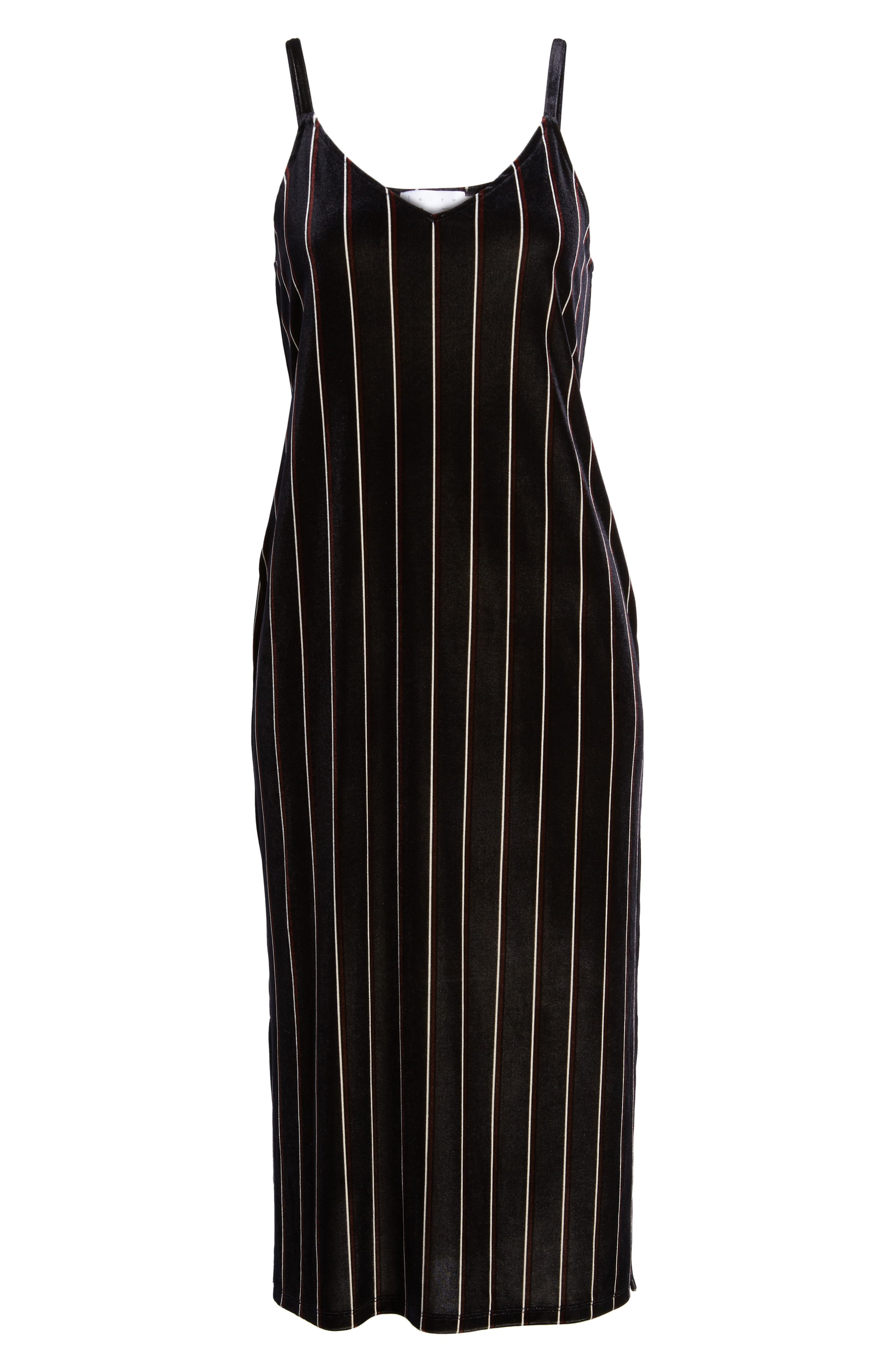 Alternate Image 6  - Leith Stripe Velour Slipdress