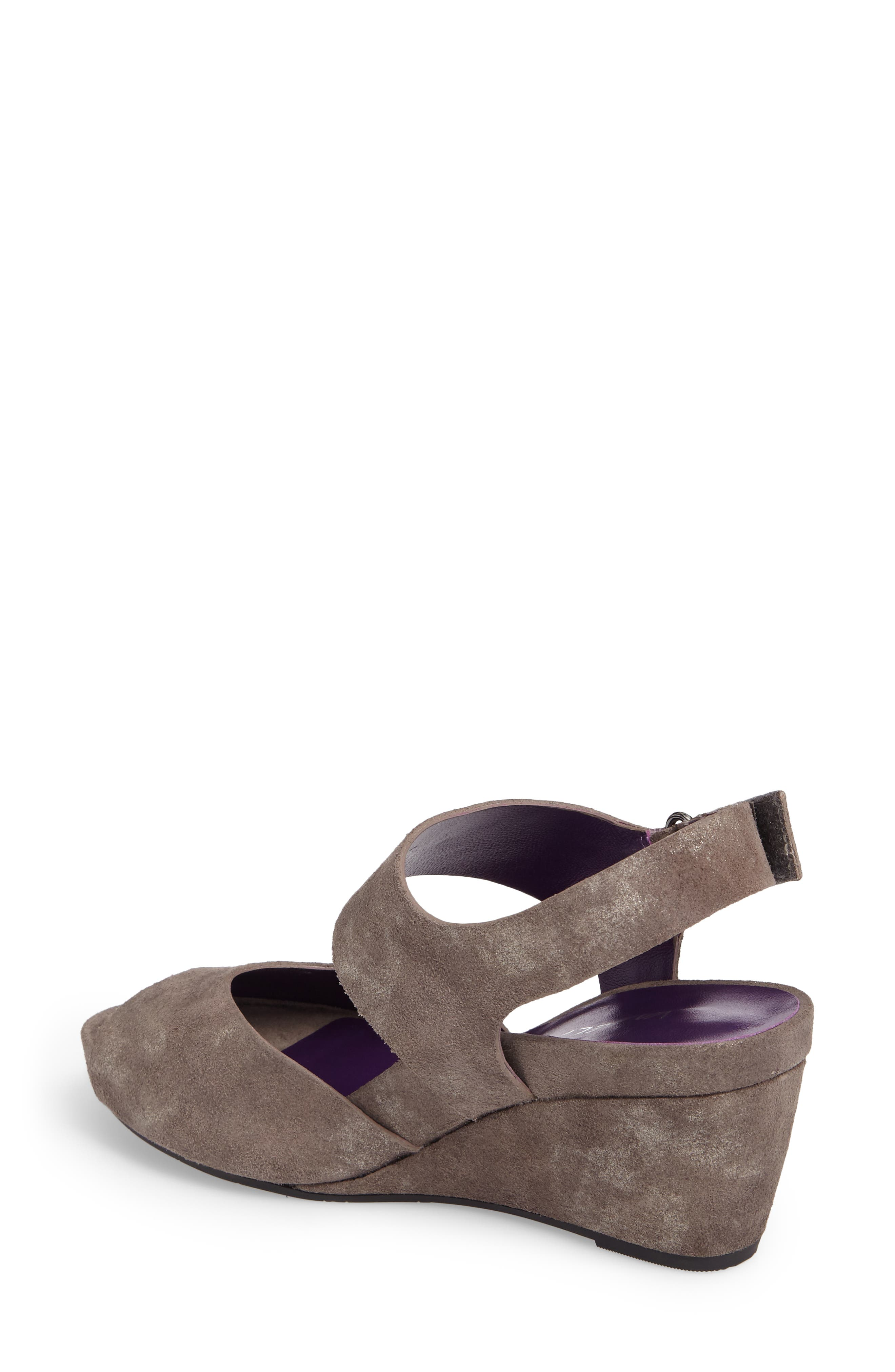 Ilex Wedge Sandal,                             Alternate thumbnail 2, color,                             Taupe Suede