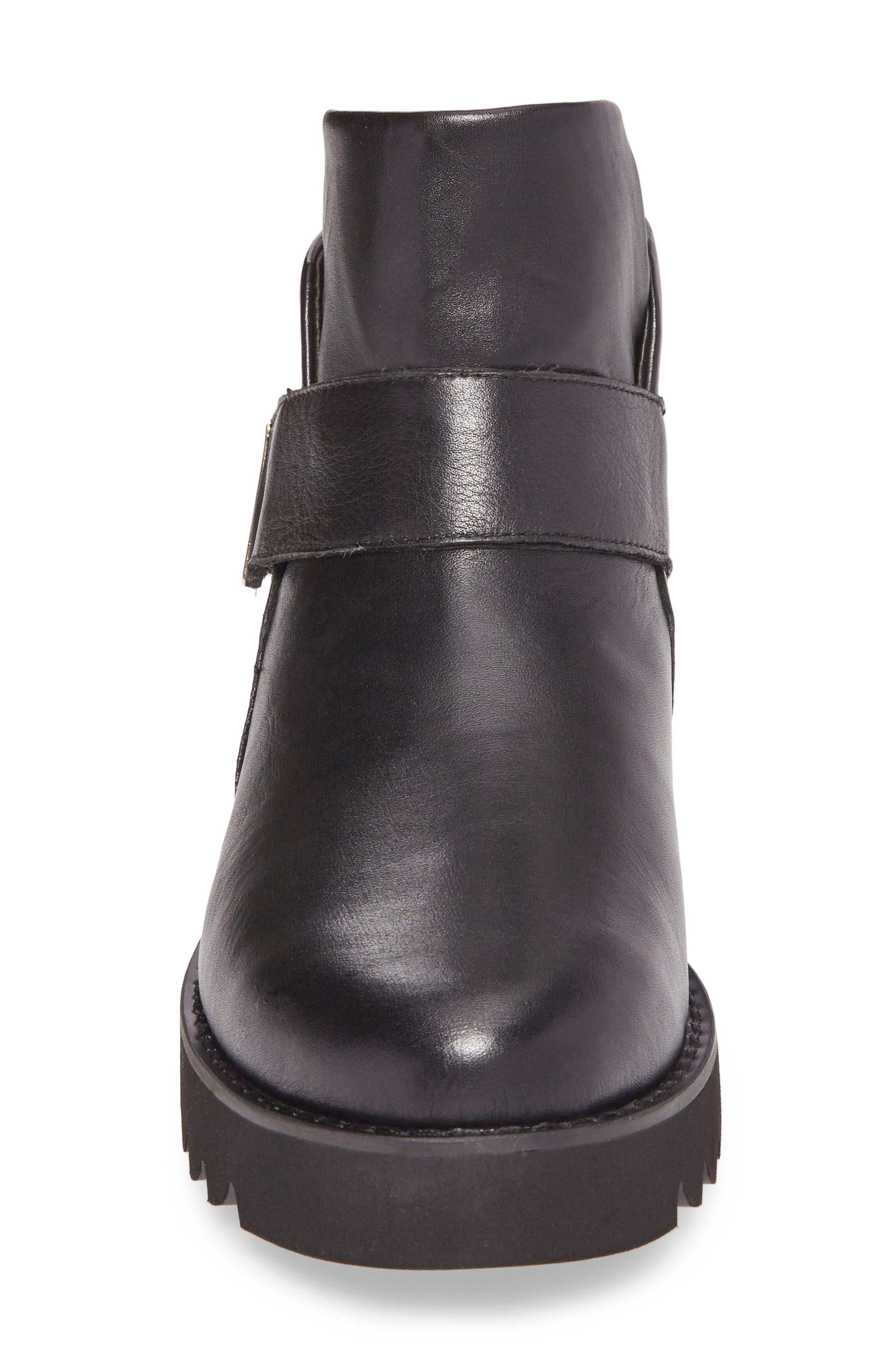 Kris Boot,                             Alternate thumbnail 4, color,                             Black Leather