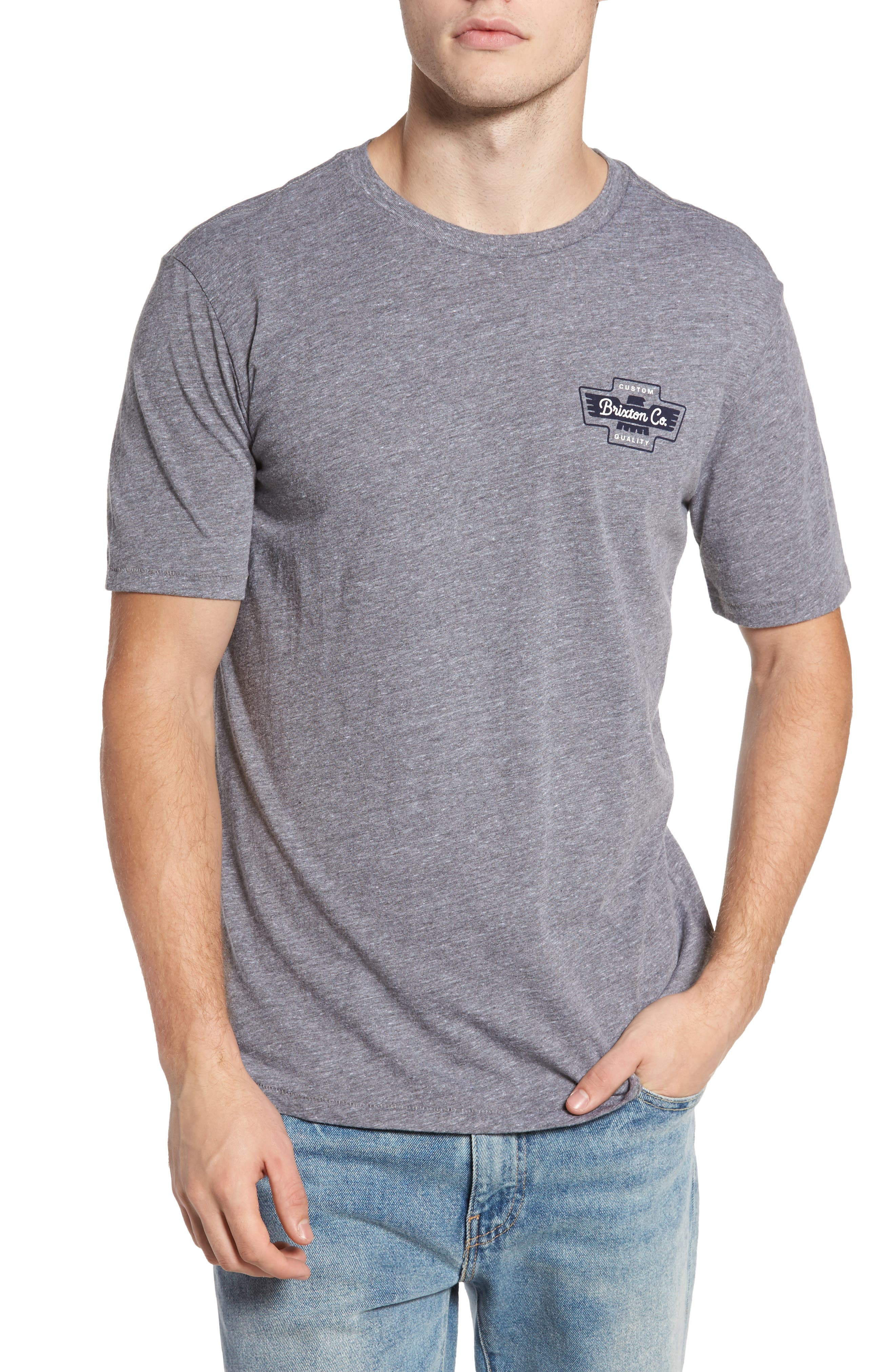 Federal Premium Graphic T-Shirt,                         Main,                         color, Heather Grey