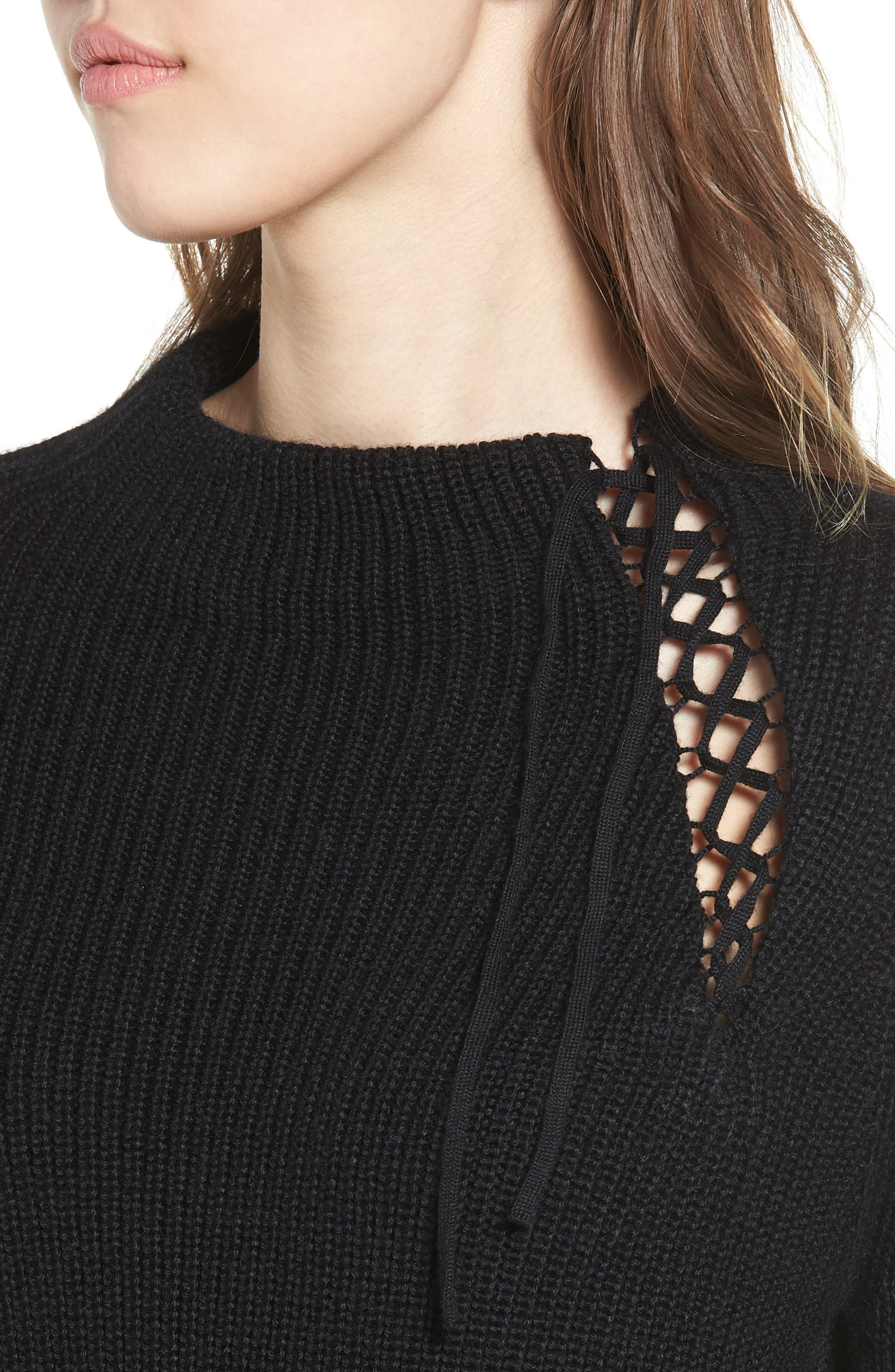 Alternate Image 4  - Ella Moss Gracey Mock Neck Sweater