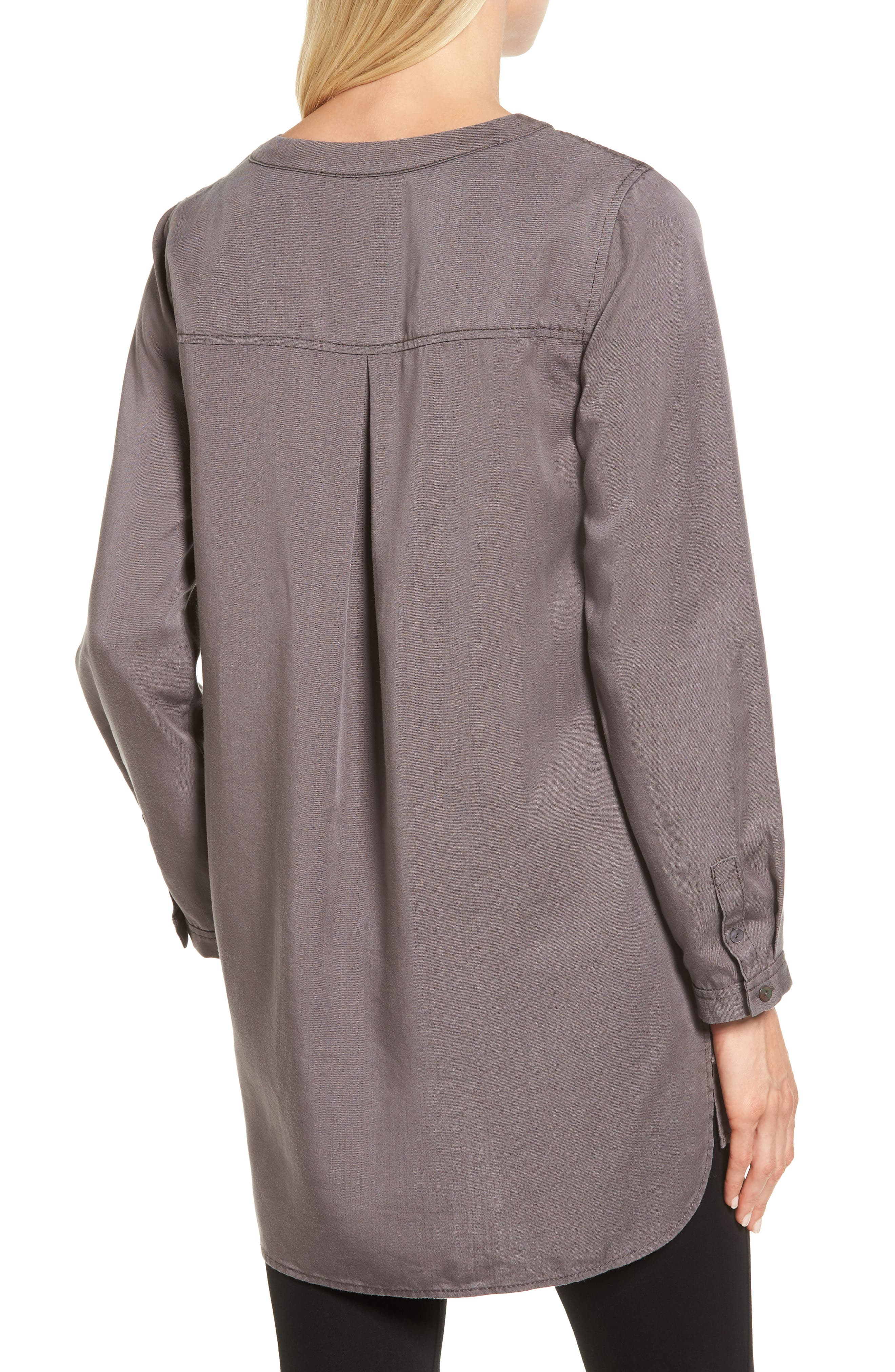 Tranquil Tunic Top,                             Alternate thumbnail 2, color,                             Warm Grey