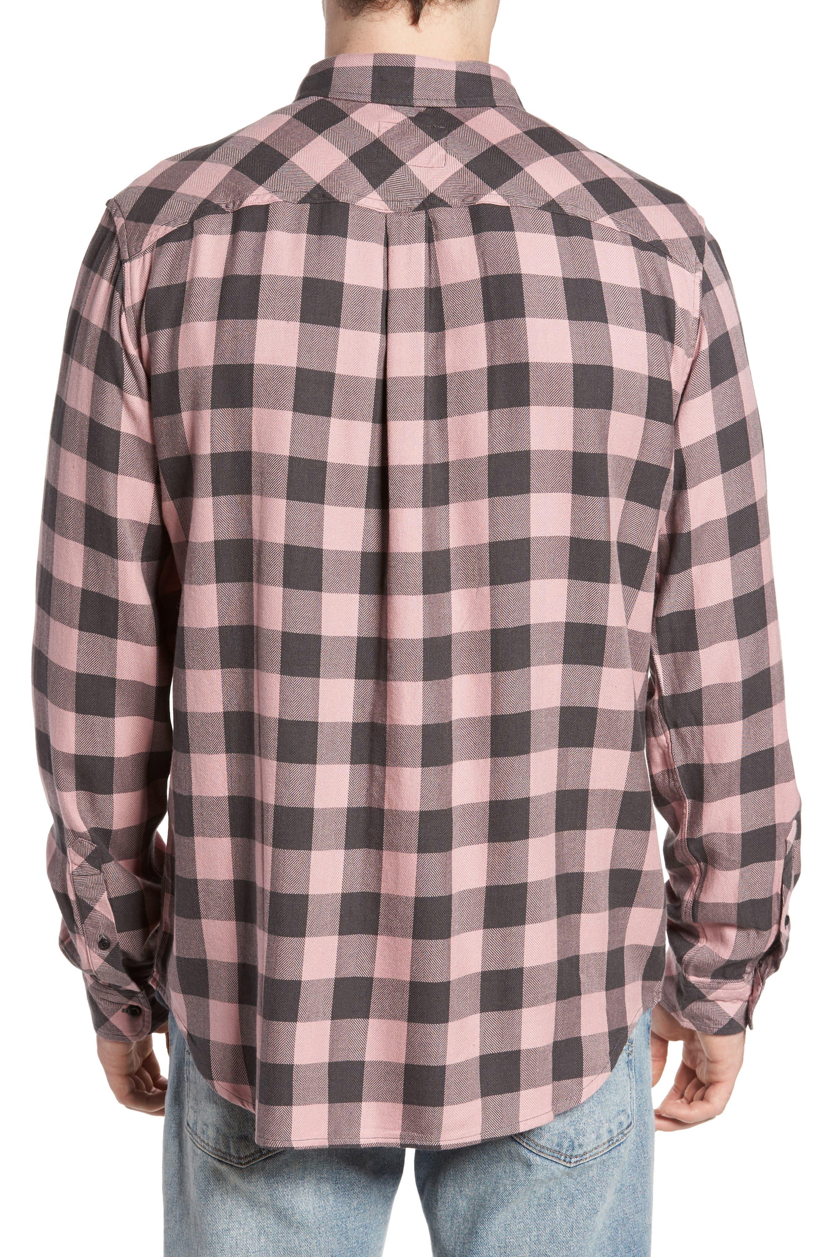 Lennox Sport Shirt,                             Alternate thumbnail 2, color,                             Pale Pink/ Charcoal