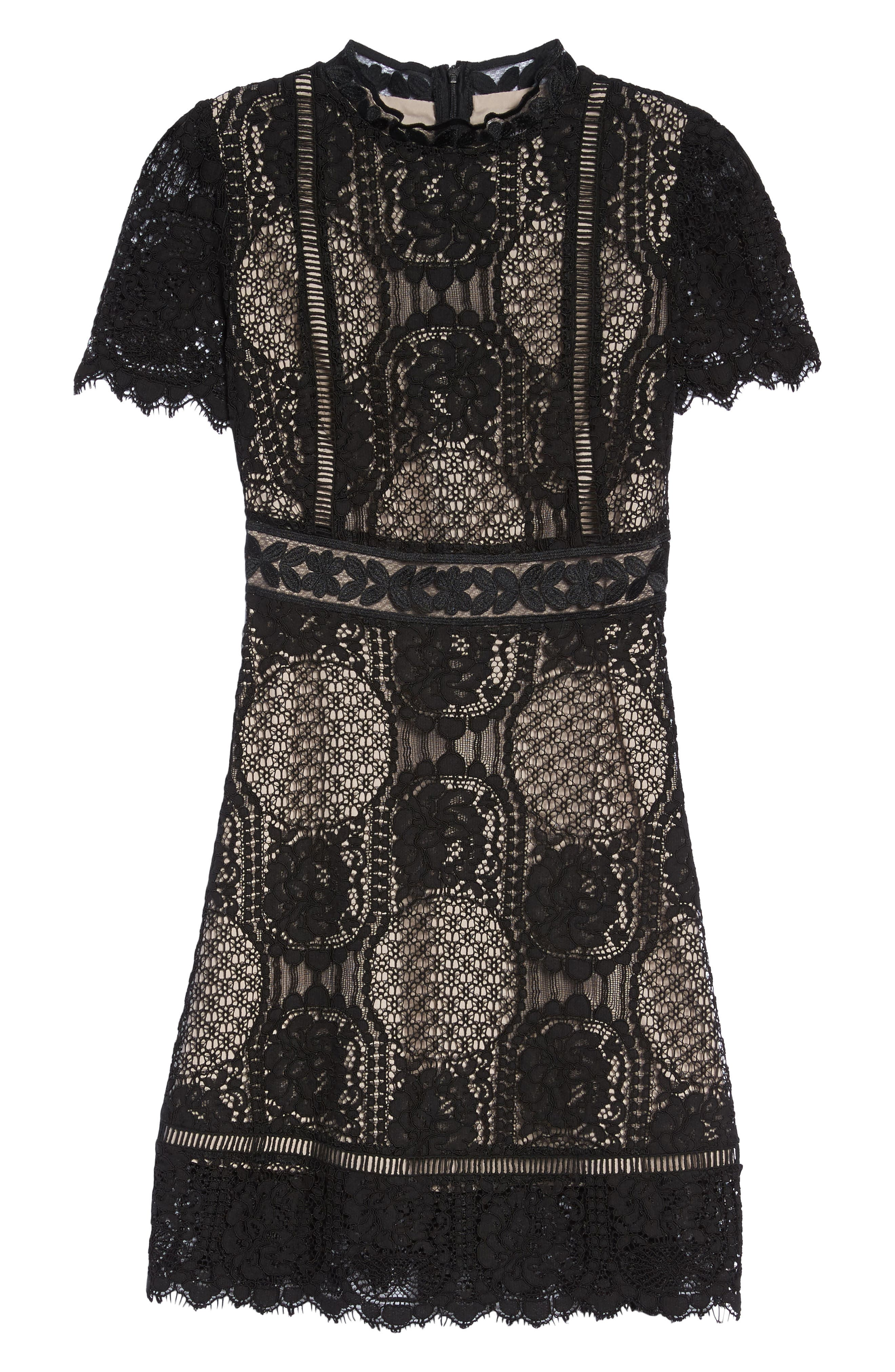 Alternate Image 6  - BB Dakota Lace Fit & Flare Dress
