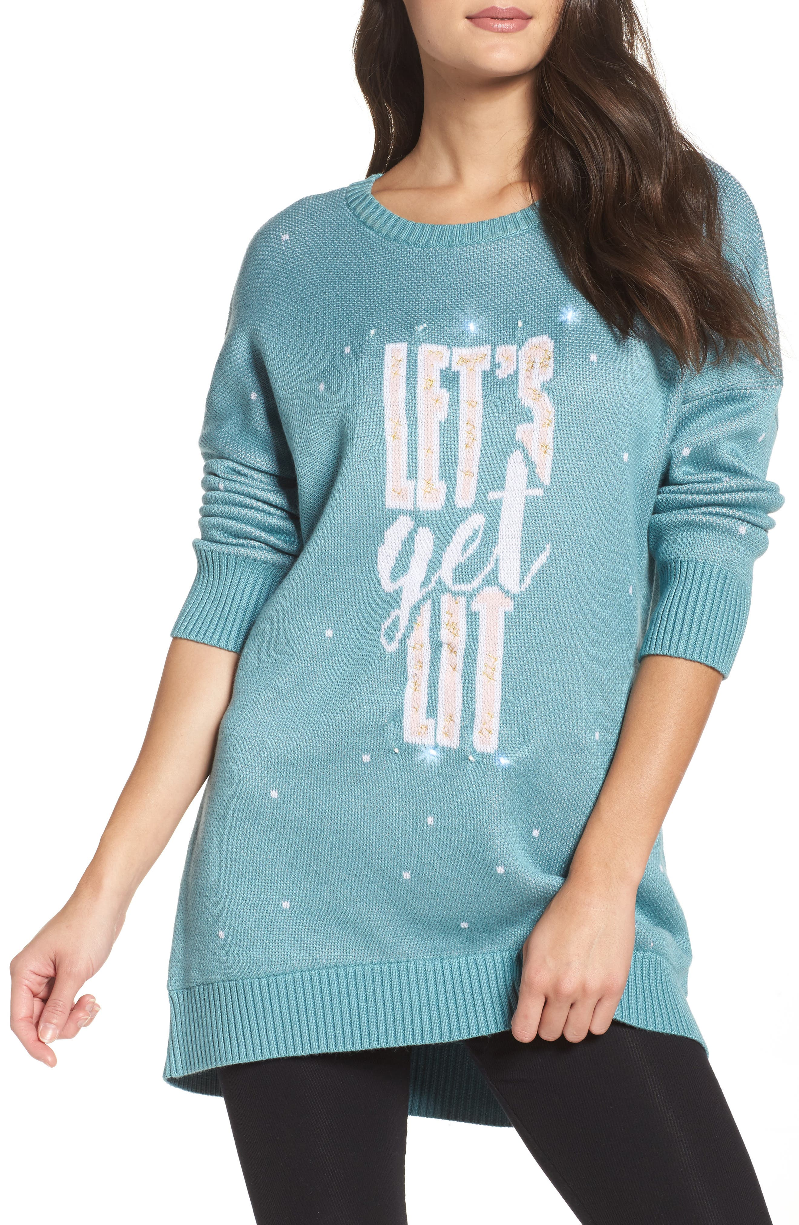 Honeydew LED Light-Up Sweater