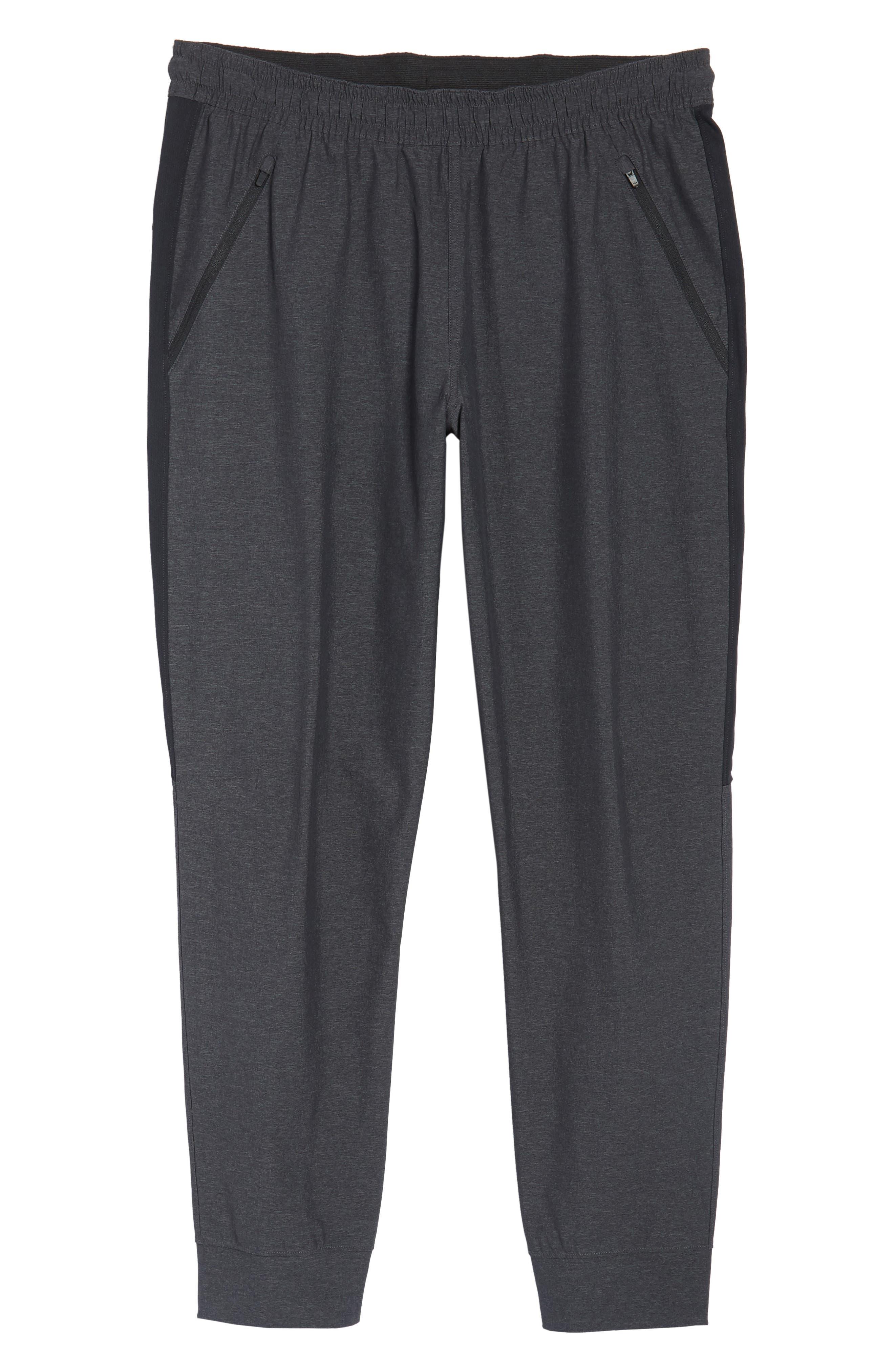 Zip Pocket Sweatpants,                             Alternate thumbnail 6, color,                             Grey Ebony Melange