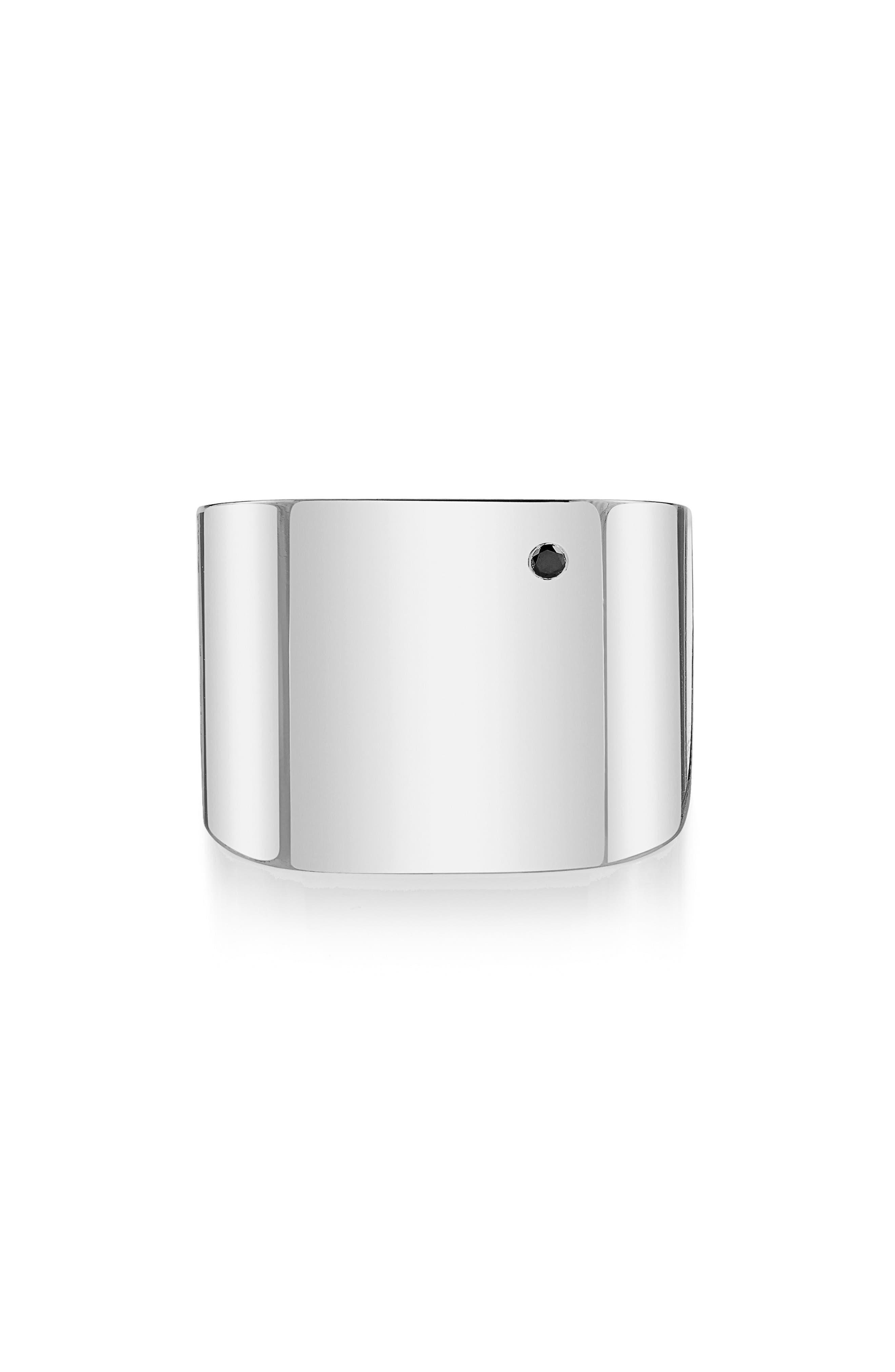 x Rashida Jones Square Cigar Band Ring,                         Main,                         color, Sterling Silver