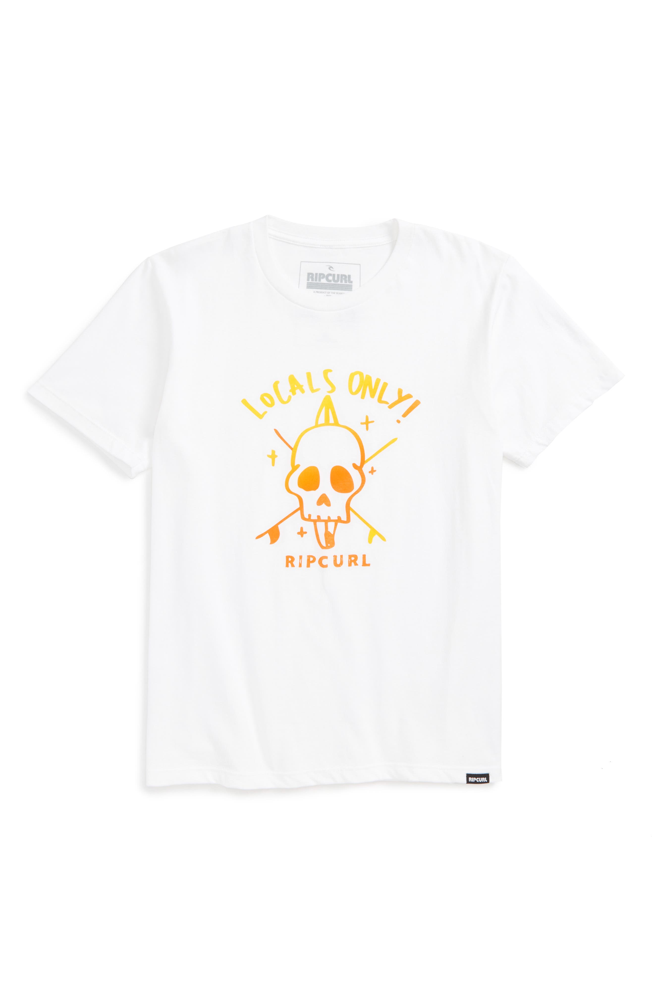 Locals Only Premium Graphic T-Shirt,                         Main,                         color, White