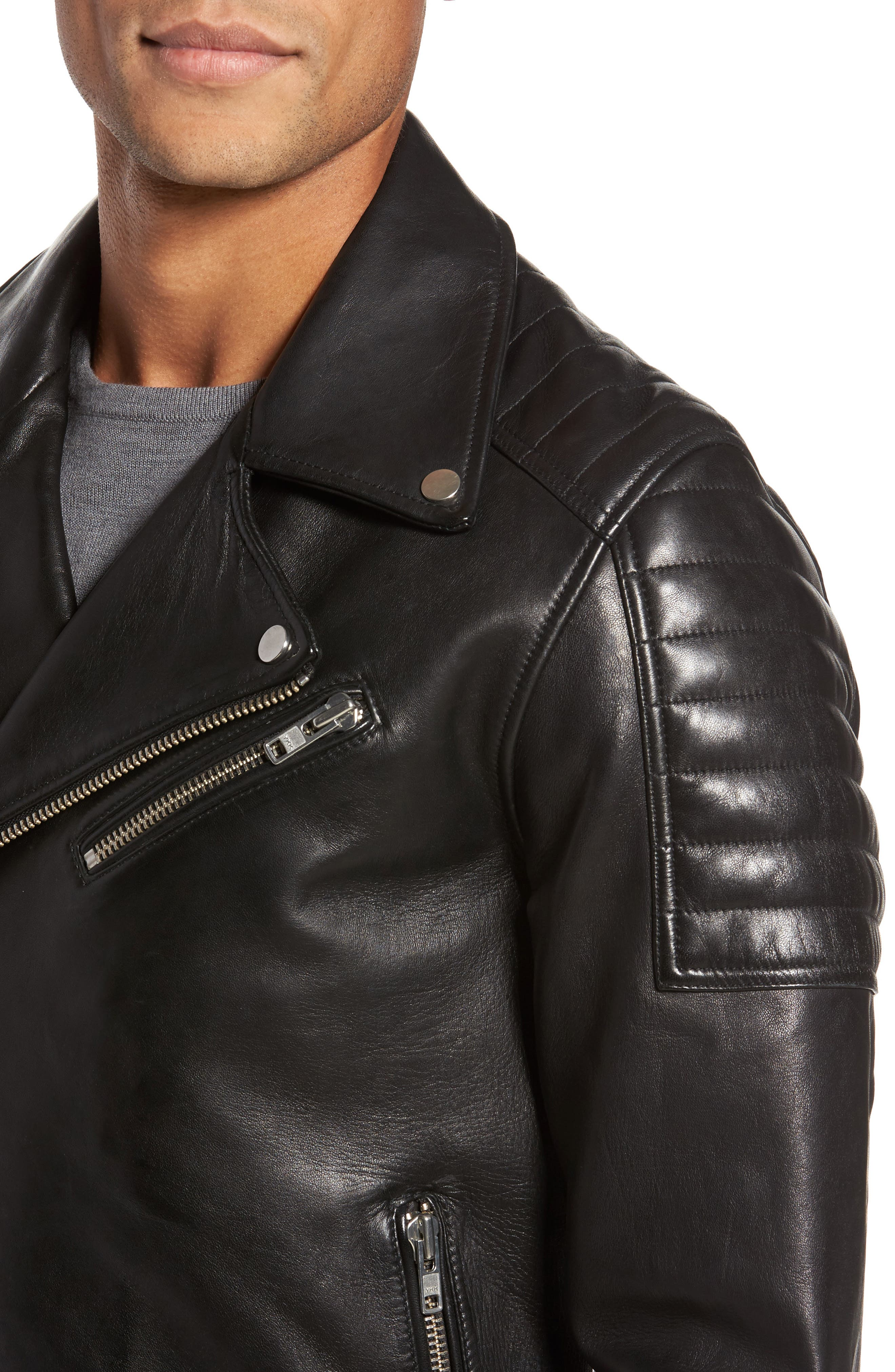 Alternate Image 4  - LAMARQUE Leather Biker Jacket