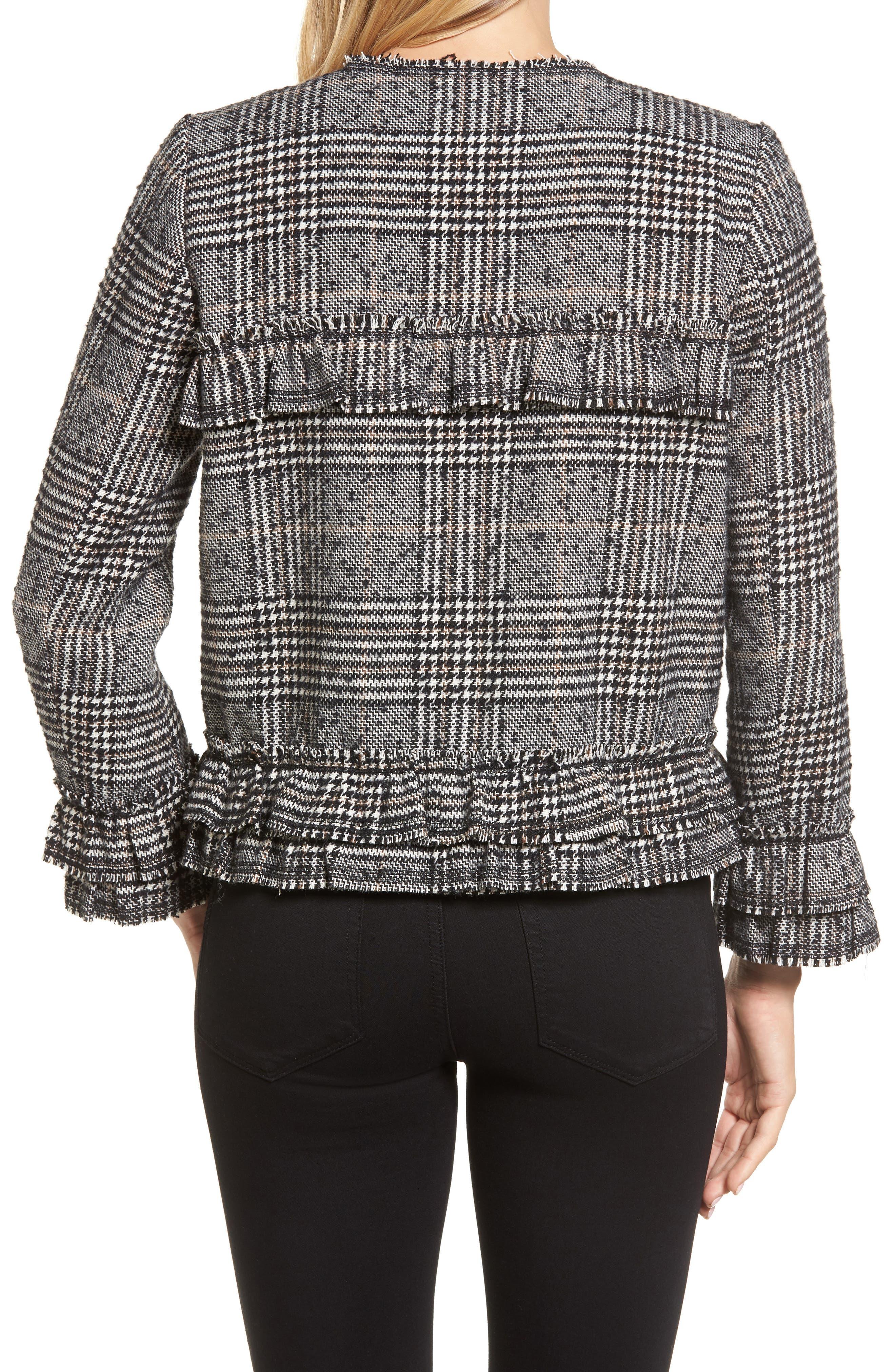 Alternate Image 2  - Pleione Ruffle Plaid Jacket