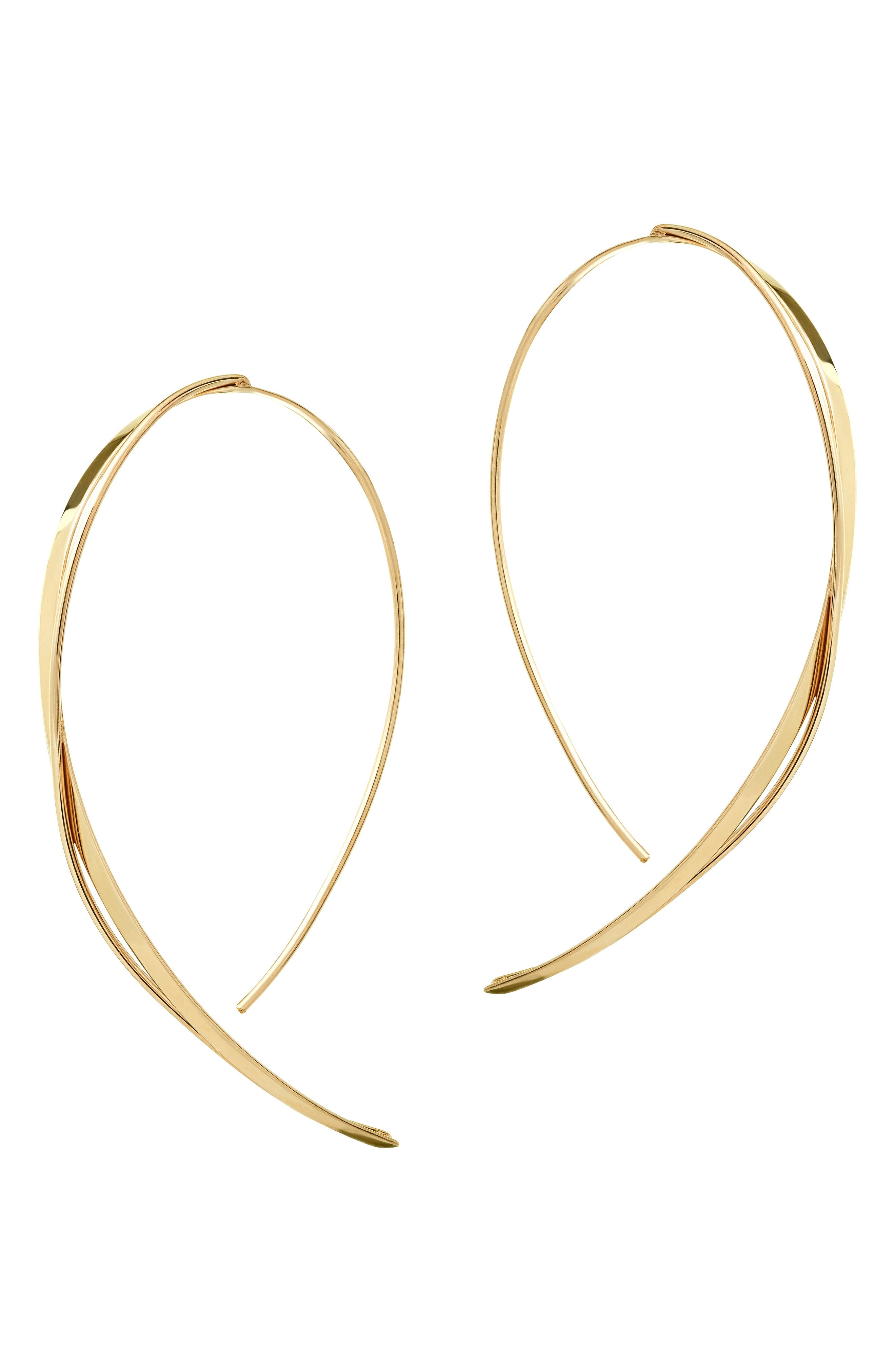 Lana Jewelry Small Criscross Hooked On Hoop Earrings