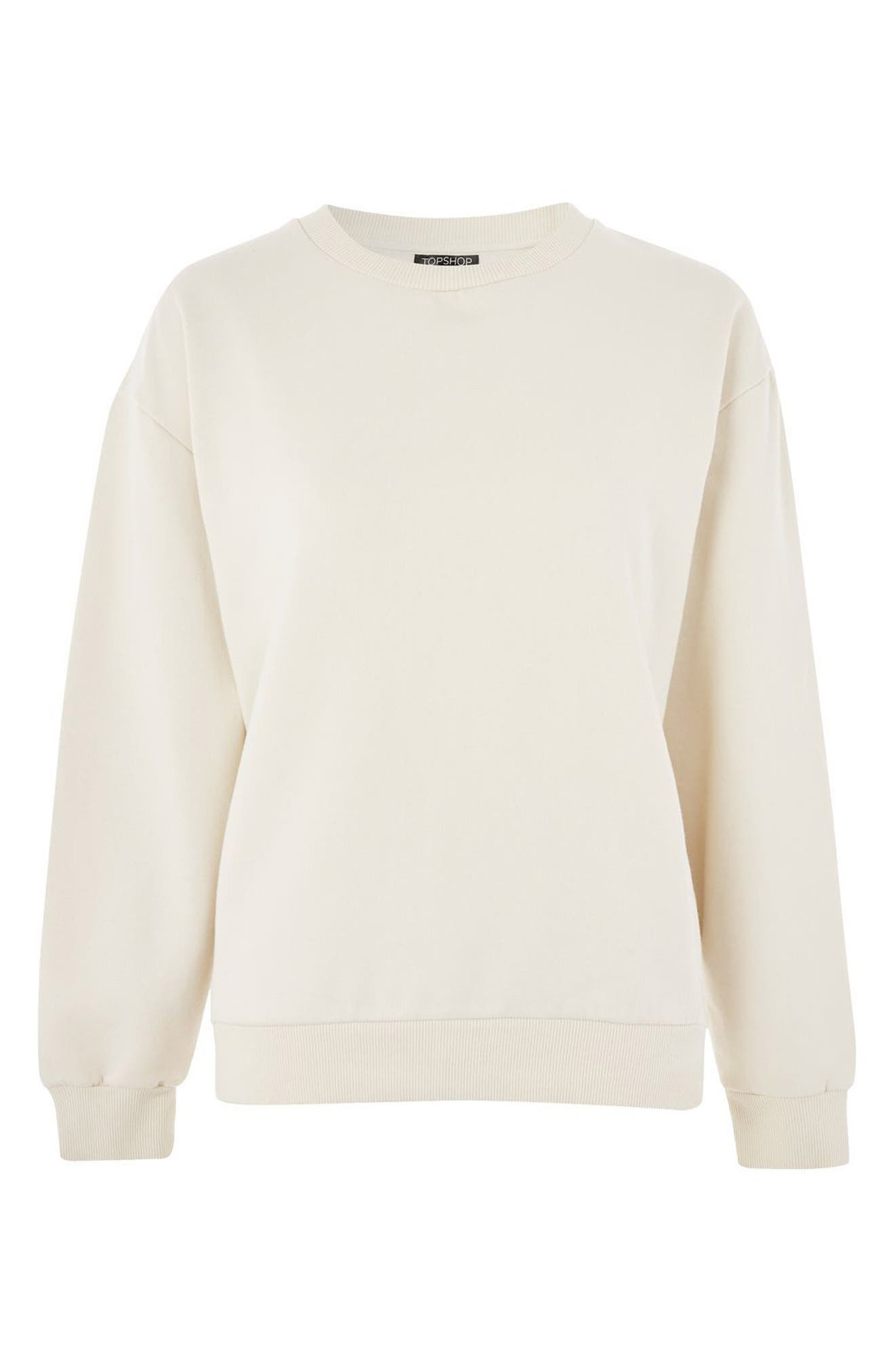 Alternate Image 4  - Topshop Sloppy Sweatshirt
