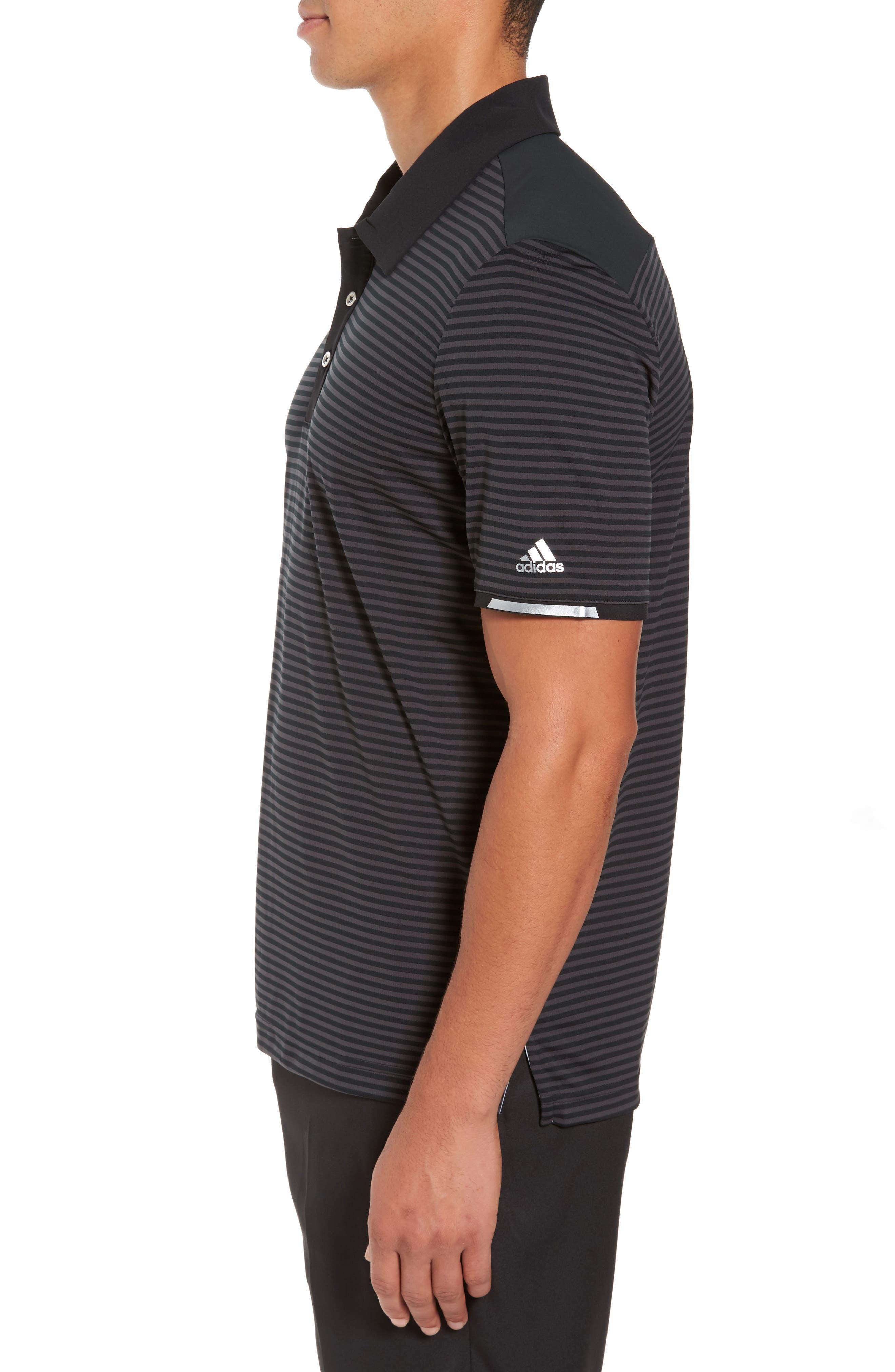 Alternate Image 3  - adidas Climachill® Stripe Golf Polo