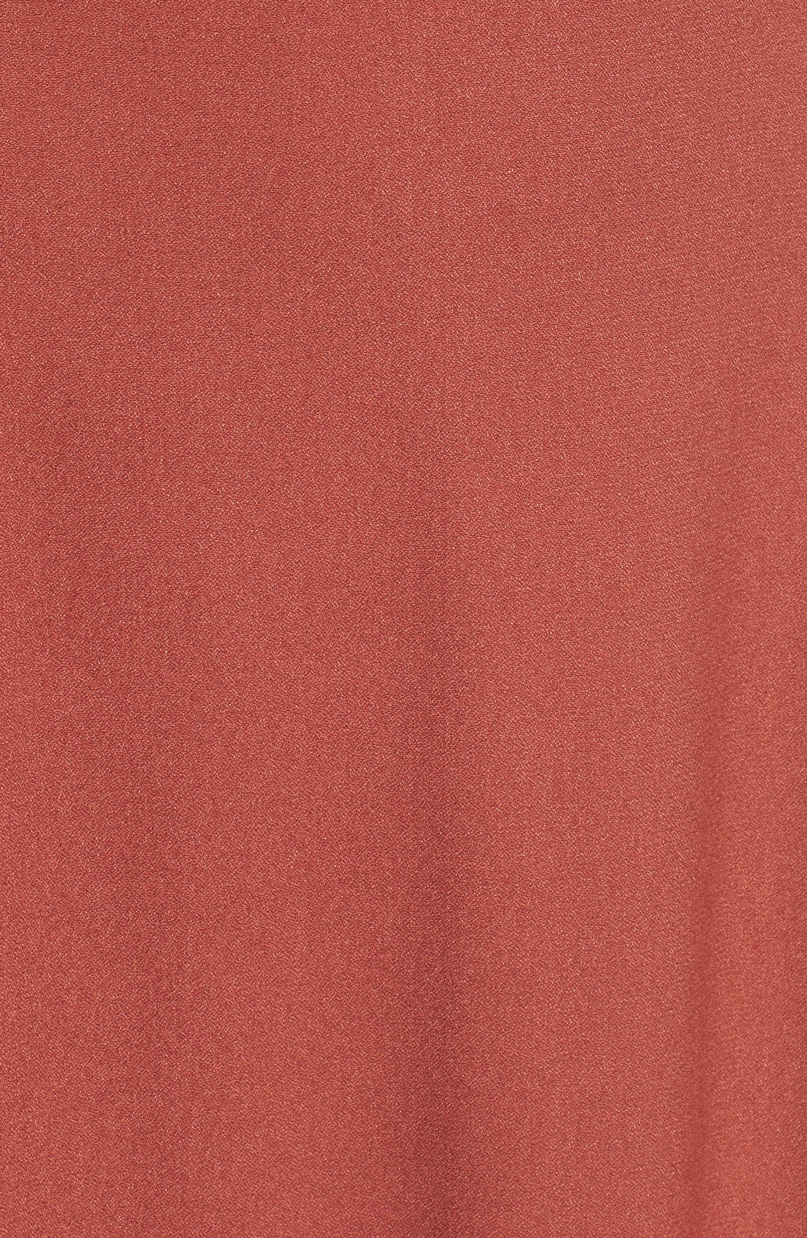Zelda Open Back Midi Dress,                             Alternate thumbnail 5, color,                             Henna