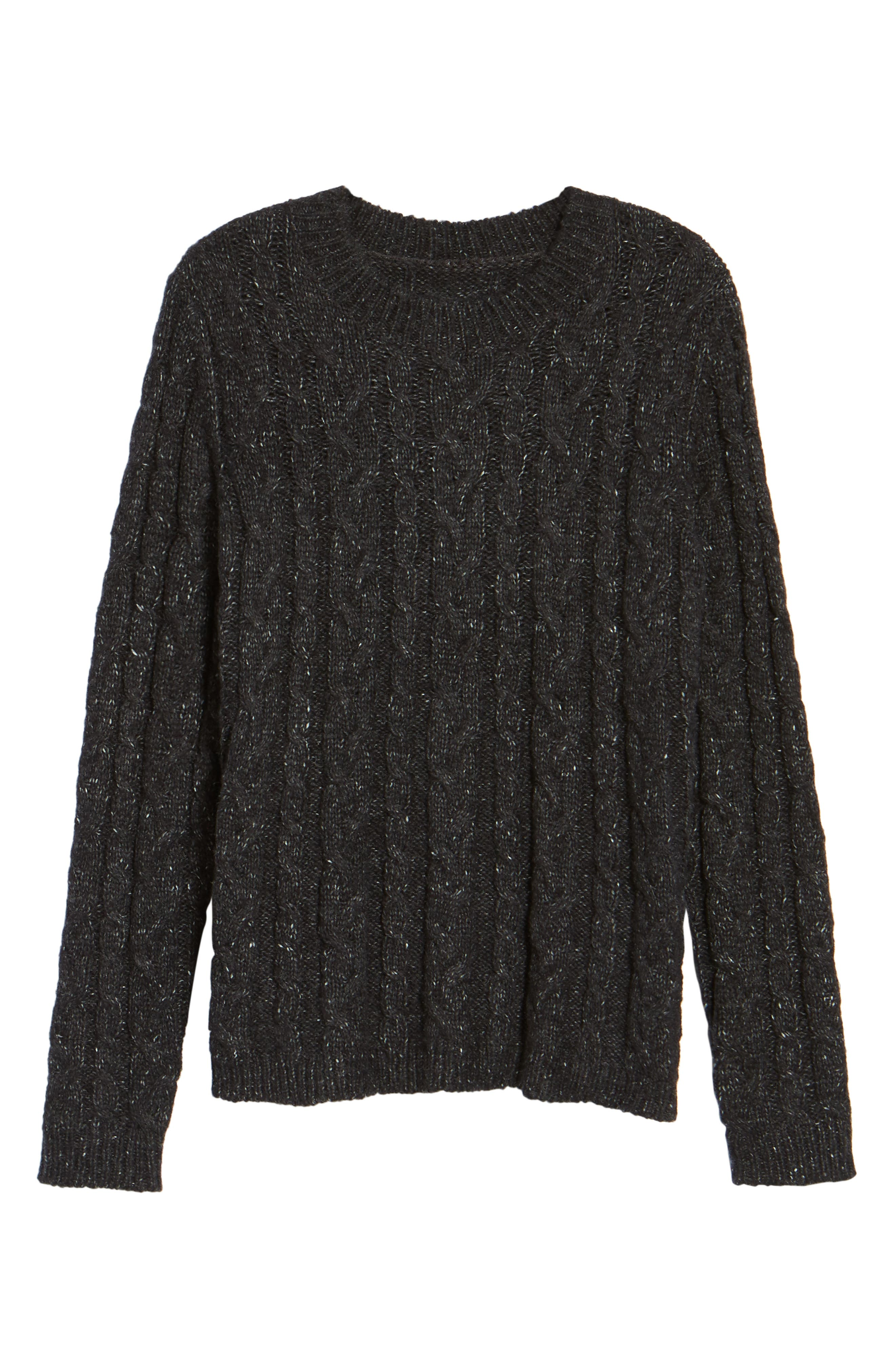 Alternate Image 6  - Press Trapeze Fit Cable Knit Sweater