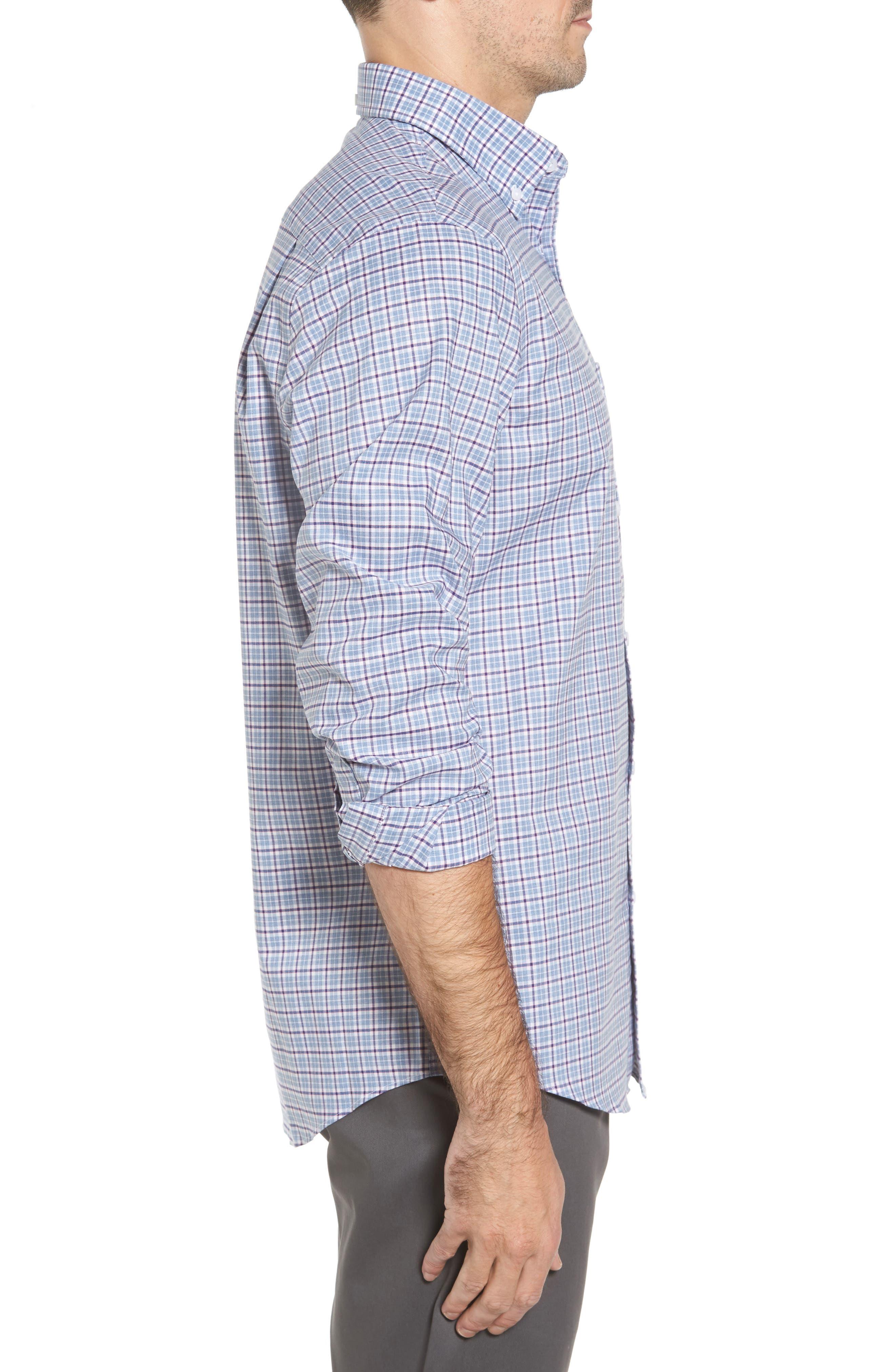 Alternate Image 3  - Nordstrom Men's Shop Non-Iron Regular Fit Check Sport Shirt
