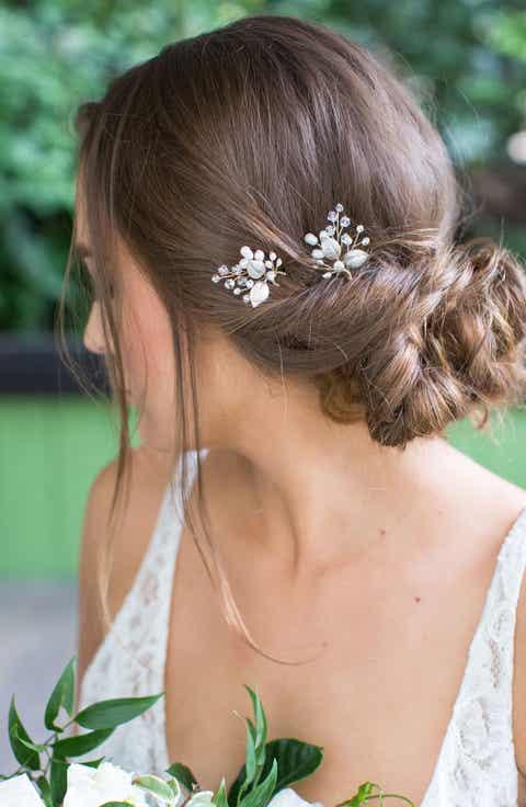 Wedding bridal hair accessories headbands nordstrom brides hairpins aurora 2 piece pin set junglespirit Choice Image