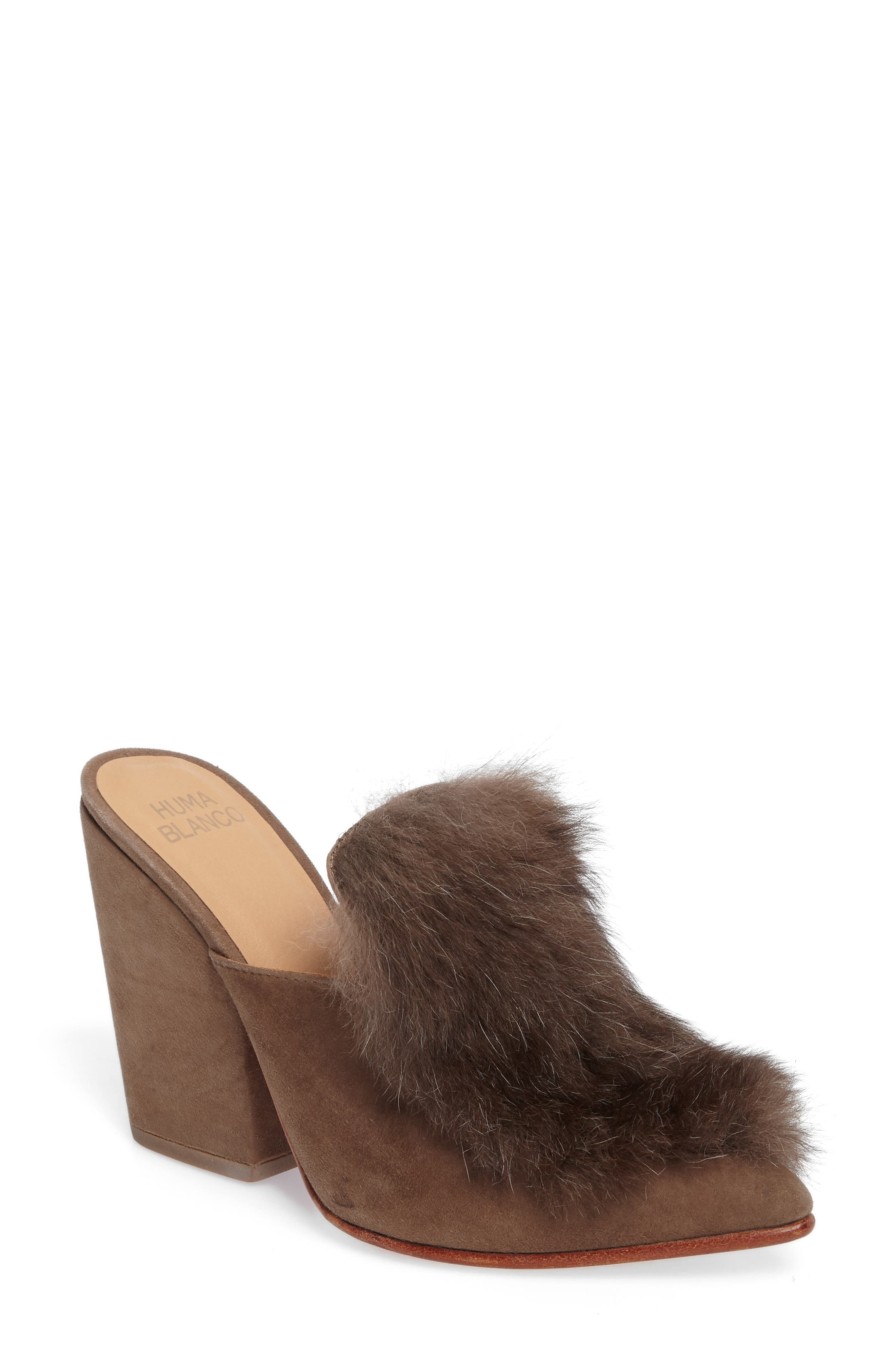 Main Image - Huma Blanco Marietta Genuine Alpaca Hair Mule (Women)
