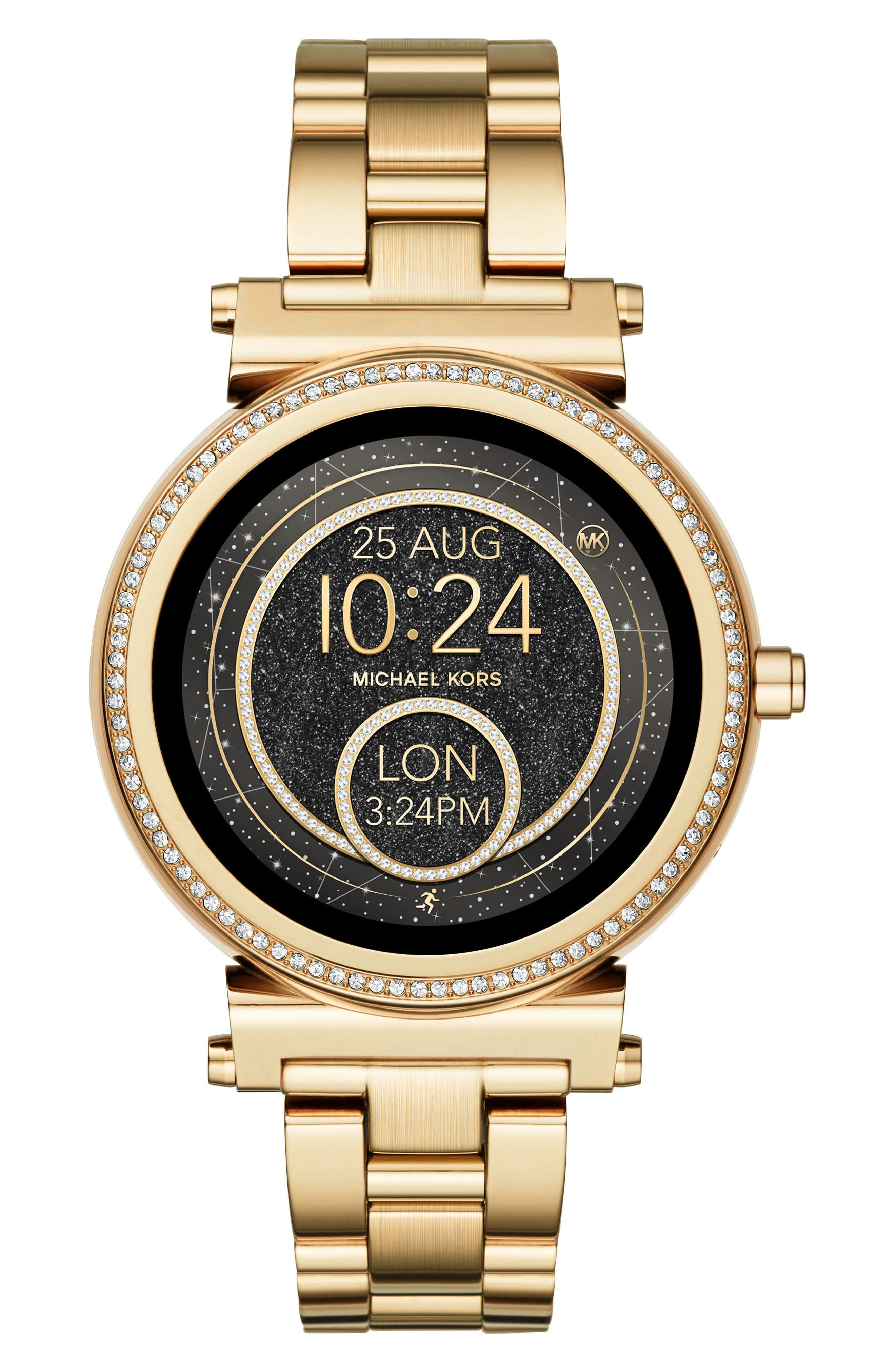 MICHAEL KORS ACCESS Sofie Smart Bracelet Watch, 42Mm in Gold/ Black/ Gold