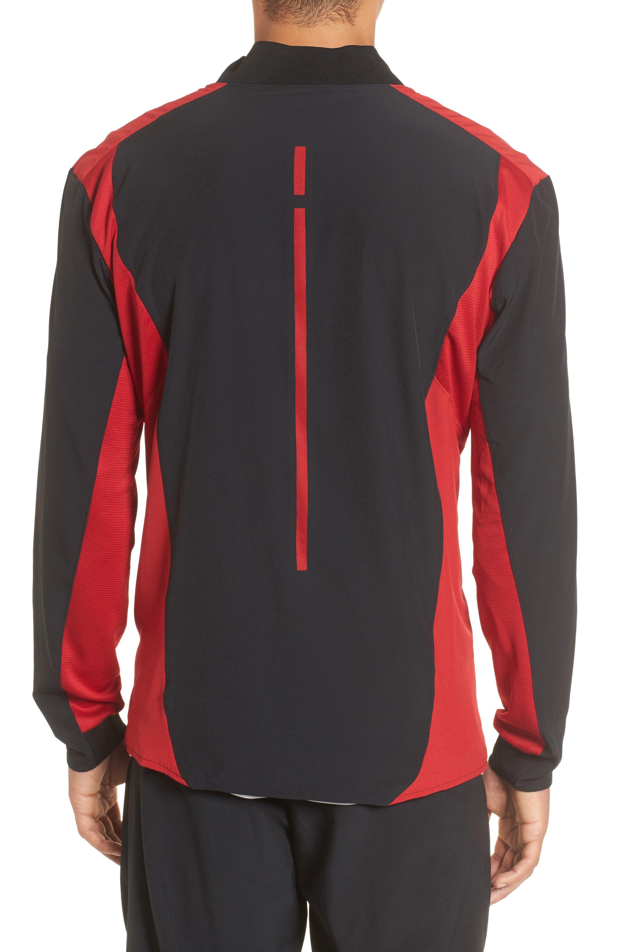 Ultimate Flight Zip Jacket,                             Alternate thumbnail 2, color,                             Black/ Gym Red