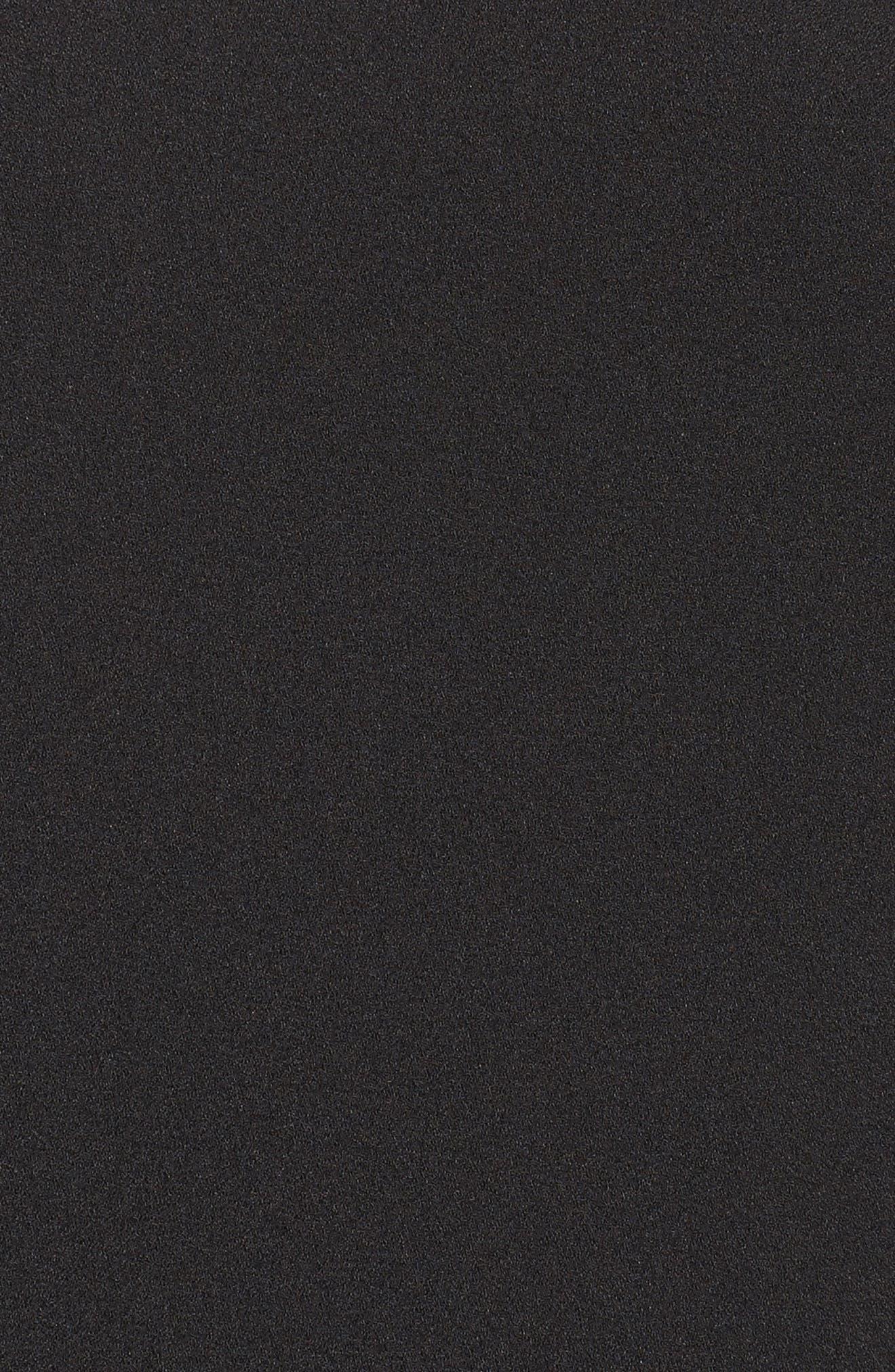 Bell Sleeve Cold Shoulder Shift Dress,                             Alternate thumbnail 5, color,                             Black