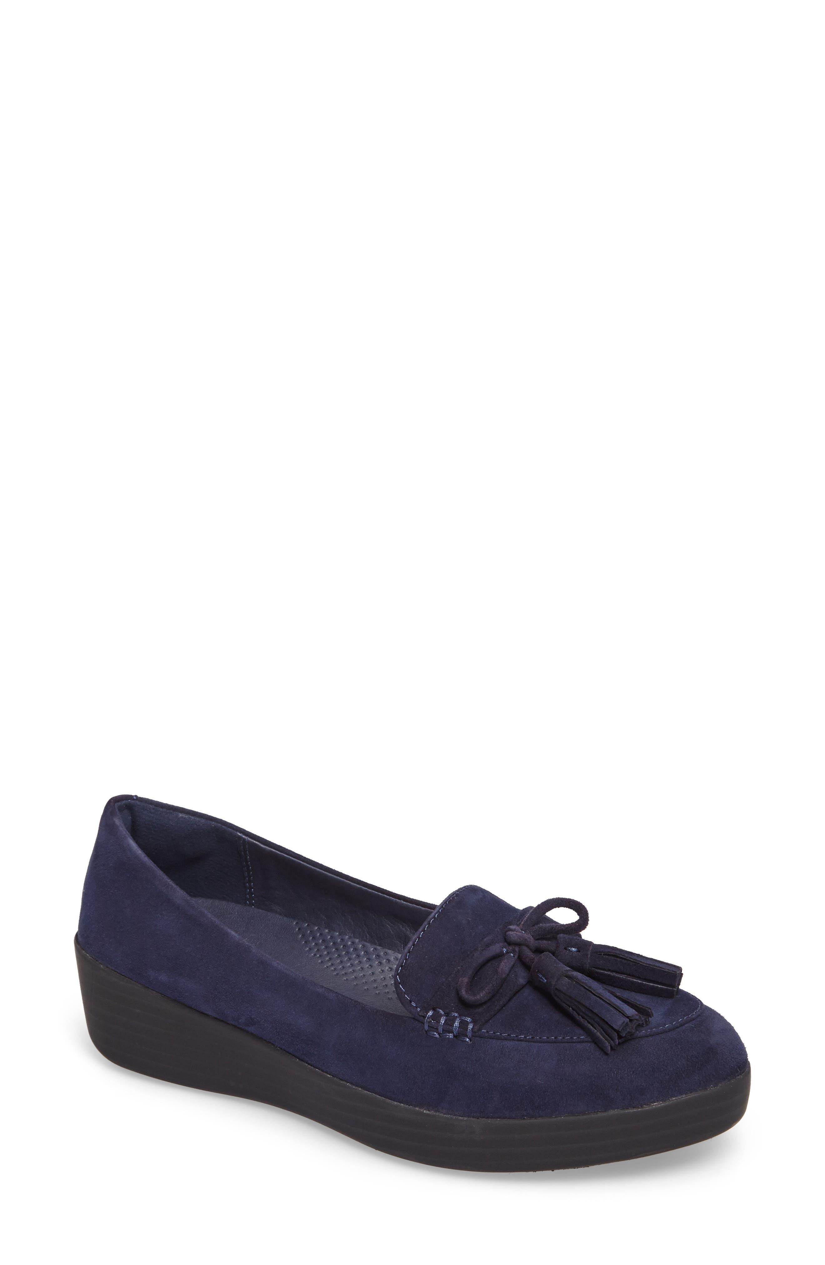 FitFlop Women's Tassel Bow Sneakerloafer(TM) Water Repellent Flat iNjBOhmH