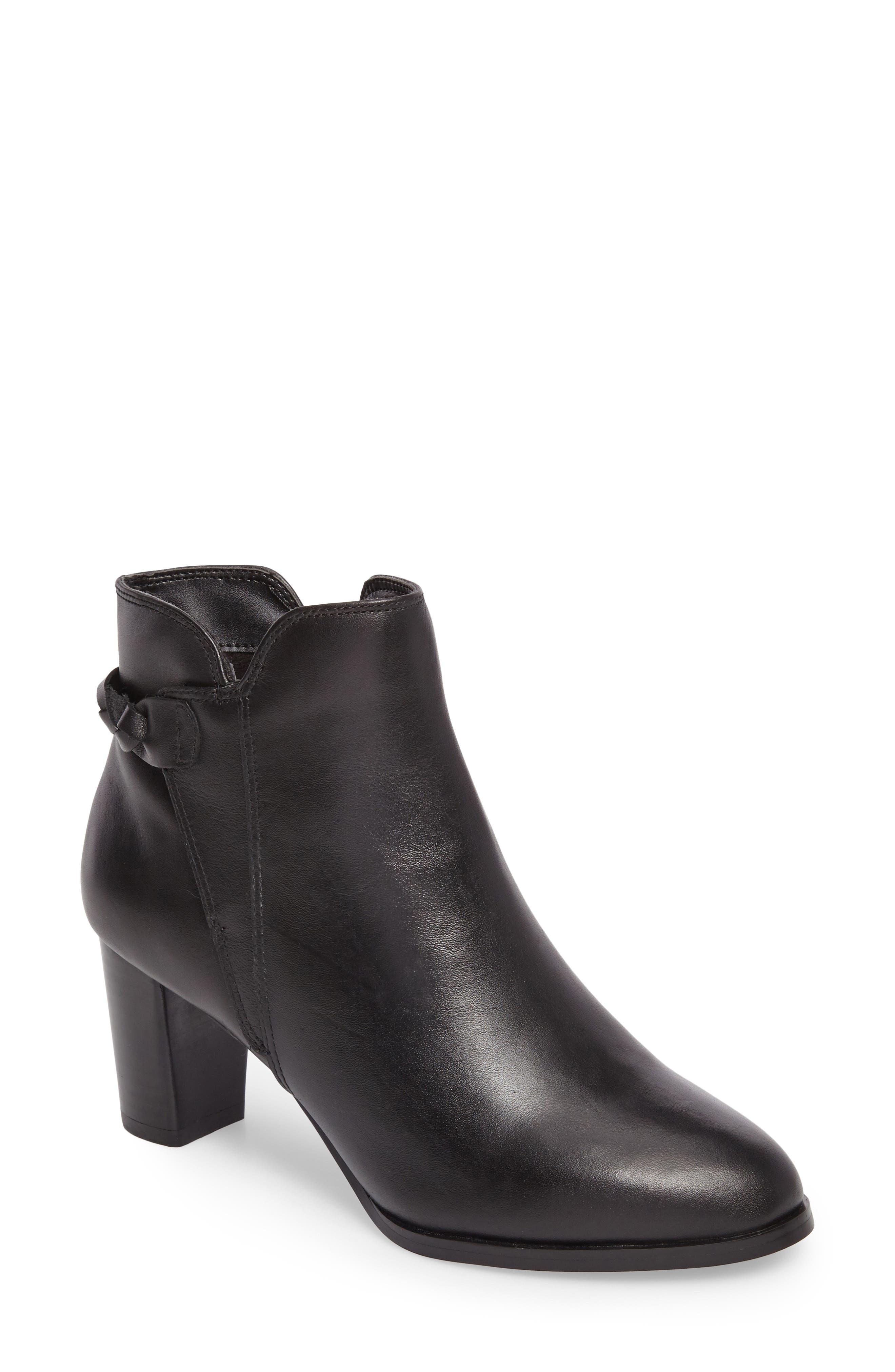 Doran Bootie,                             Main thumbnail 1, color,                             Black Leather