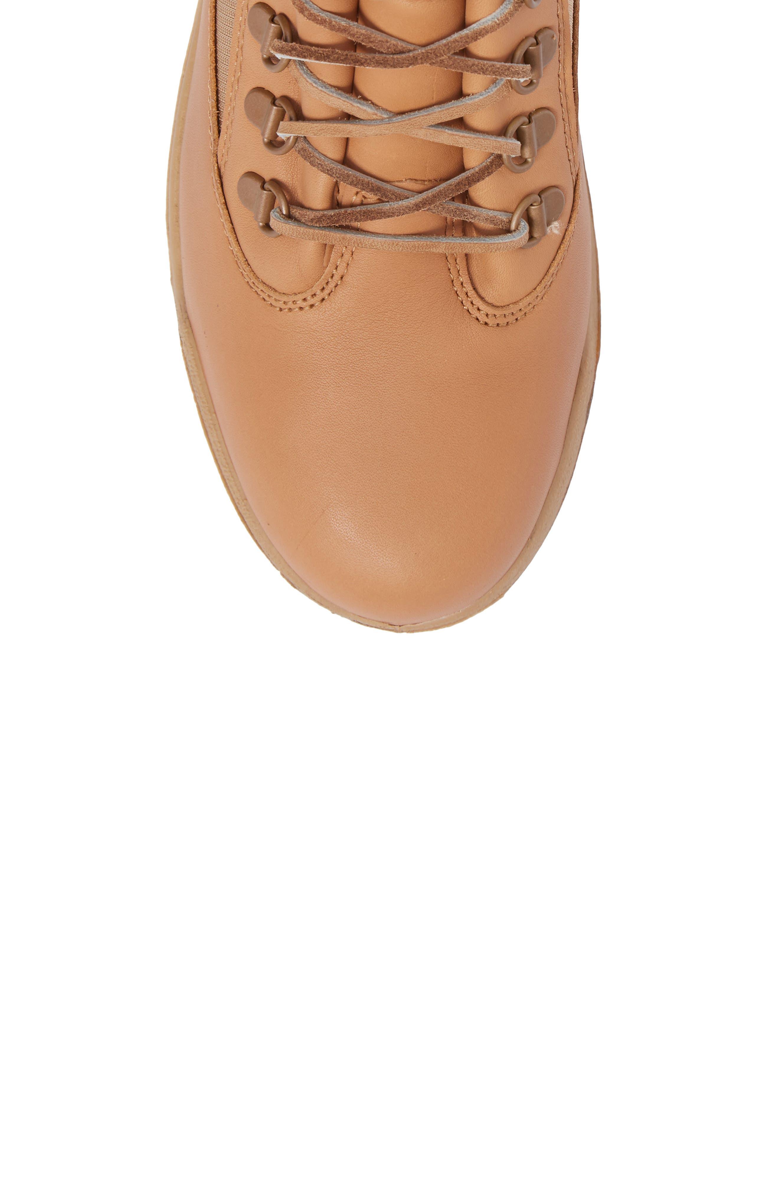 Waterproof Boot,                             Alternate thumbnail 5, color,                             Natural Hoween/ Latigo Leather