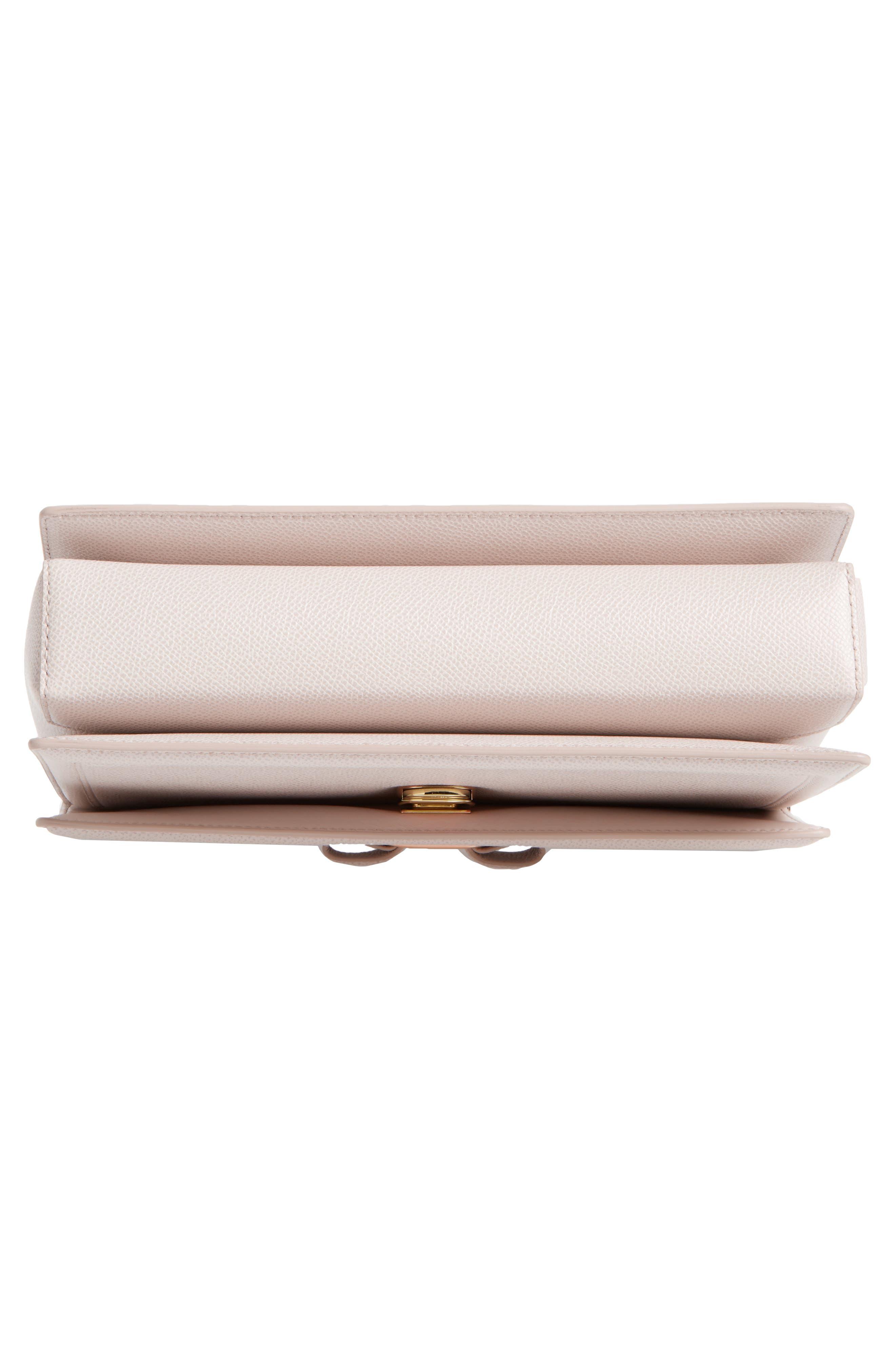 Medium Ginny Leather Shoulder Bag,                             Alternate thumbnail 6, color,                             Jasmine Flower