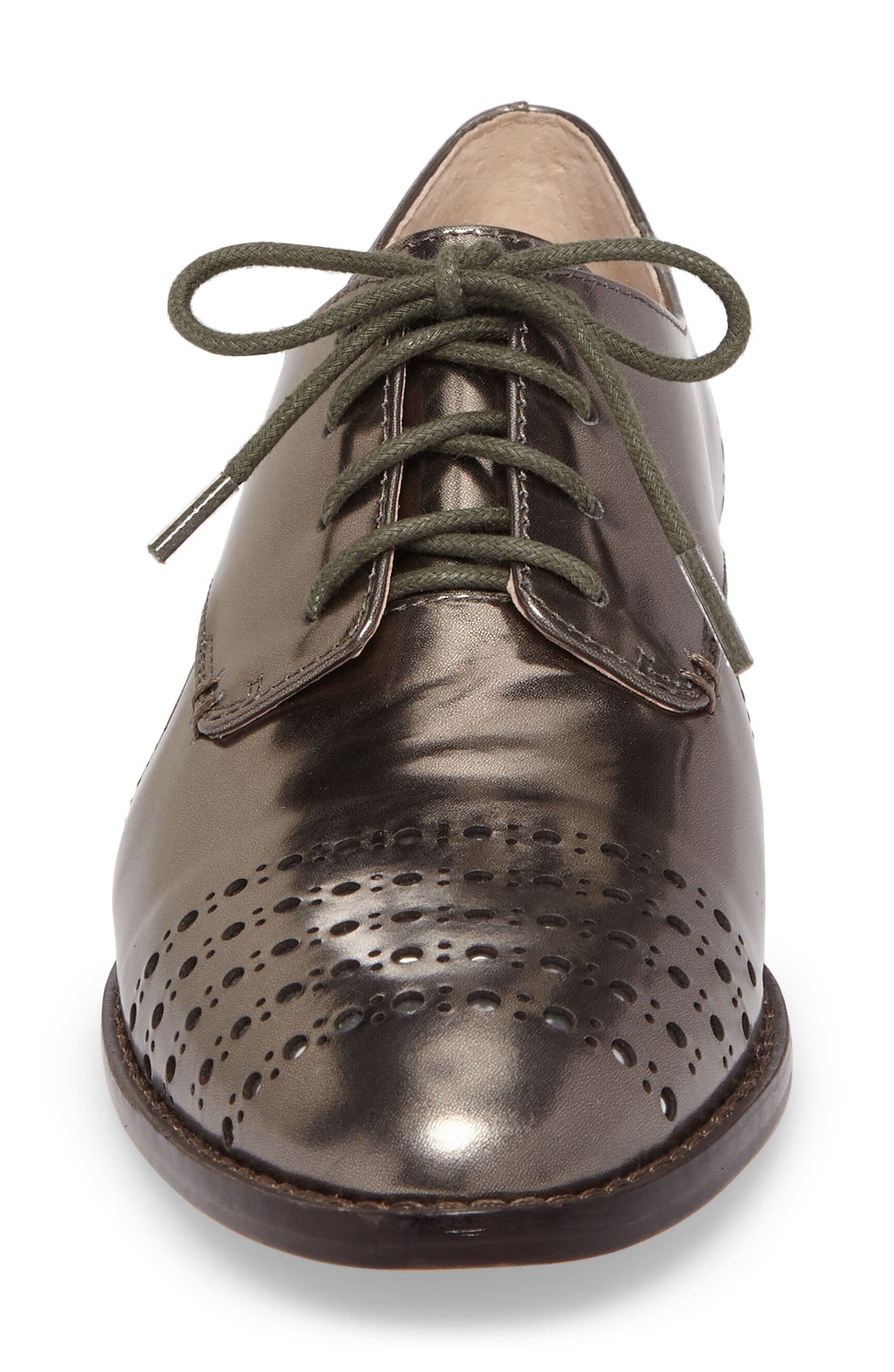 Felta Cutout Oxford,                             Alternate thumbnail 4, color,                             Iron Specchio Leather