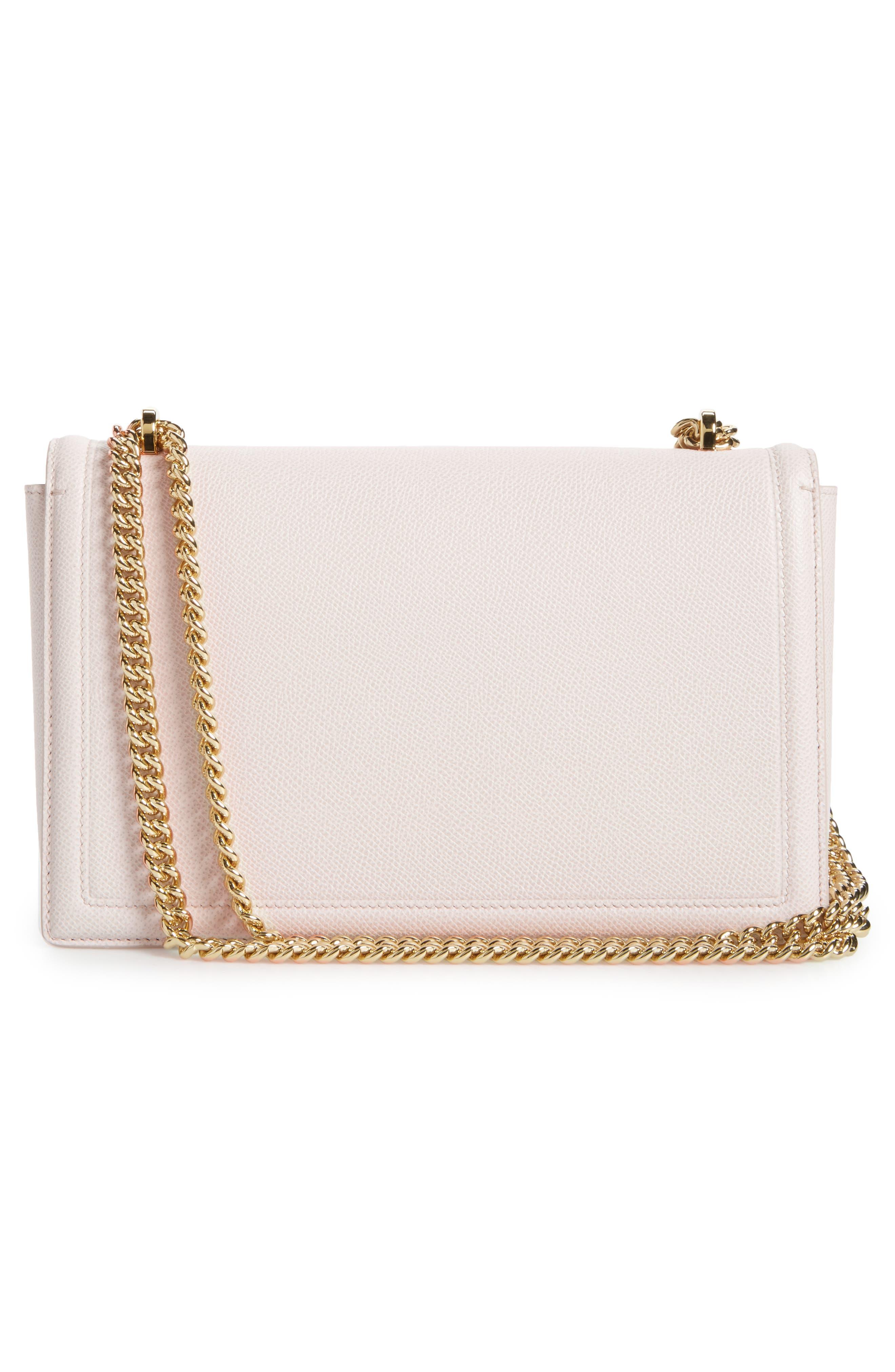 Medium Ginny Leather Shoulder Bag,                             Alternate thumbnail 3, color,                             Jasmine Flower